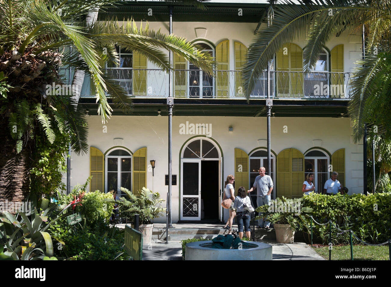 Ernest Hemingway Home and Museum, Whitehead Street, Key West, Florida Keys, USA Stock Photo