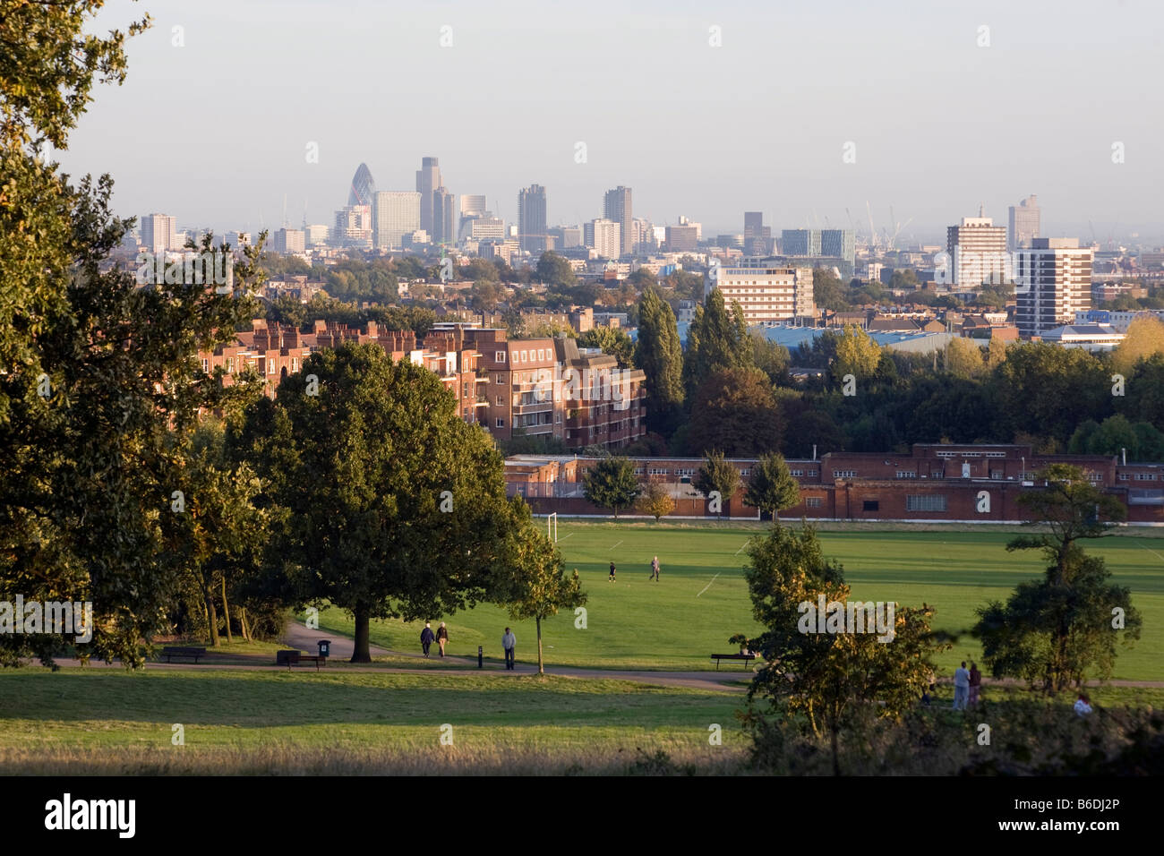 View of London from Hampstead Heath - Stock Image