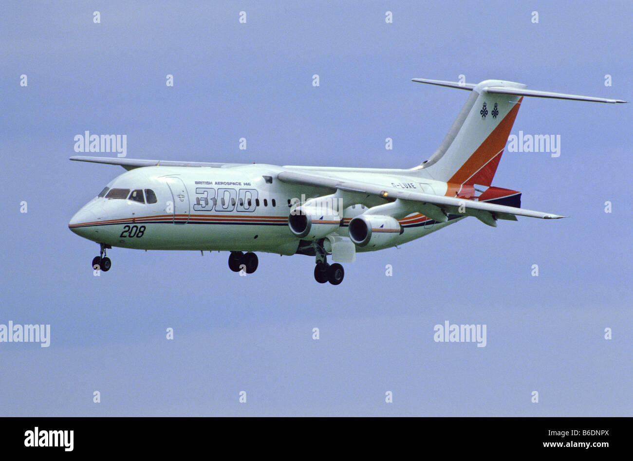 British Aerospace BAe-146-300 Airliner Approach to Land - Stock Image