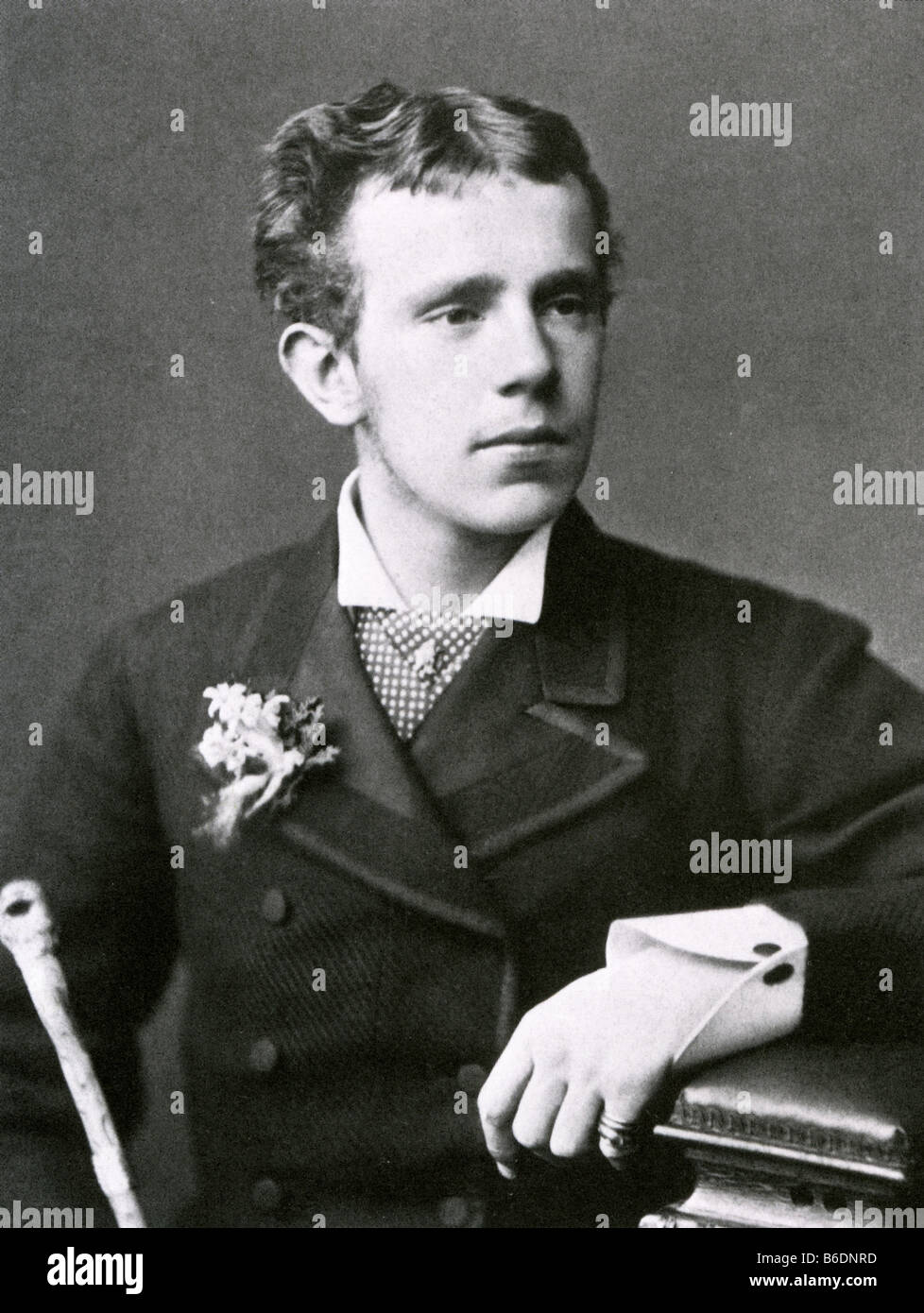 CROWN PRINCE RUDOLPH OF AUSTRIA who committed suicide at Mayerling in January 1889 - Stock Image