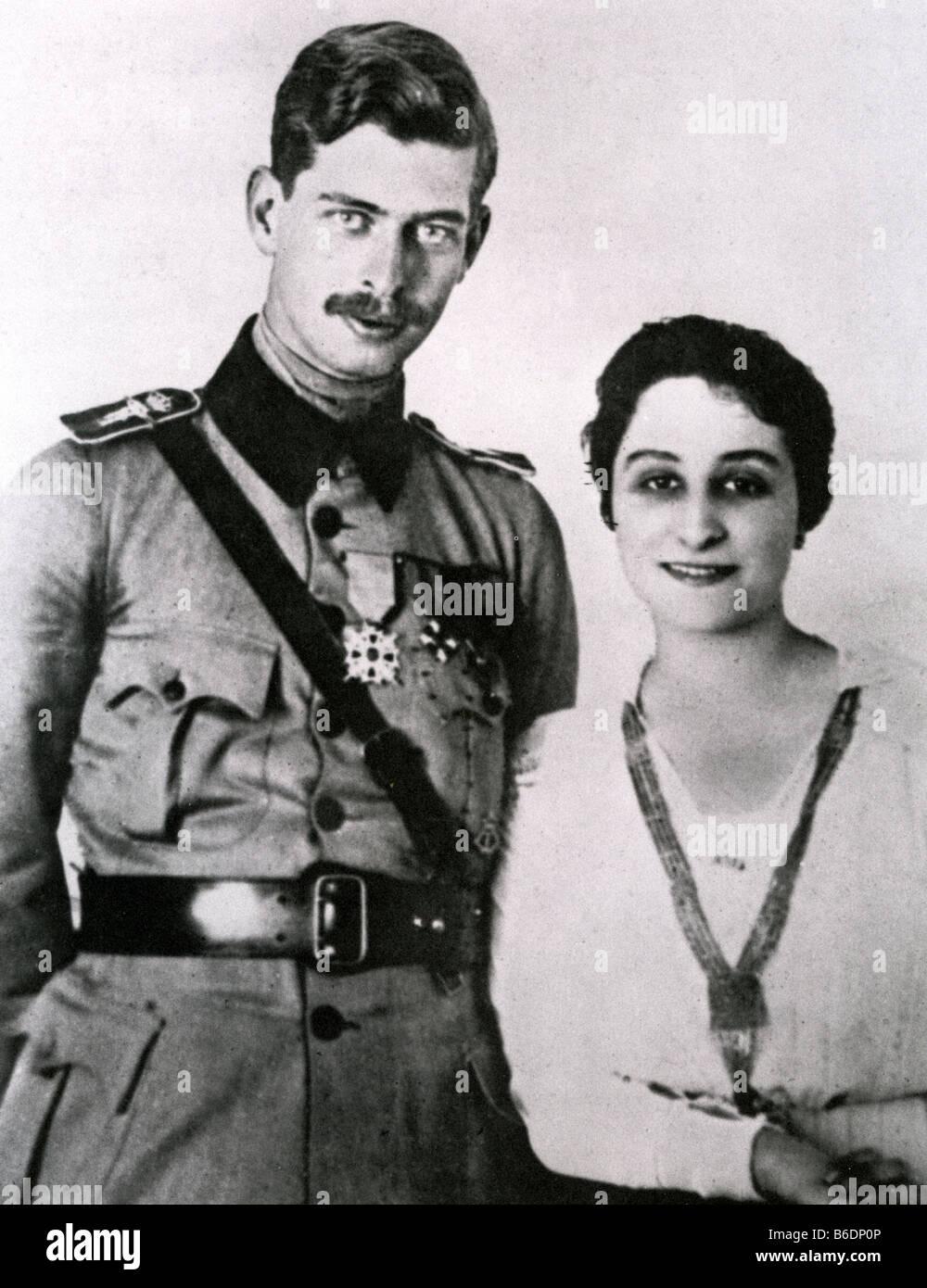KING CAROL II OF ROMANIA with first wife Zizi Lambrini Stock Photo ... 6bfe9357ab0