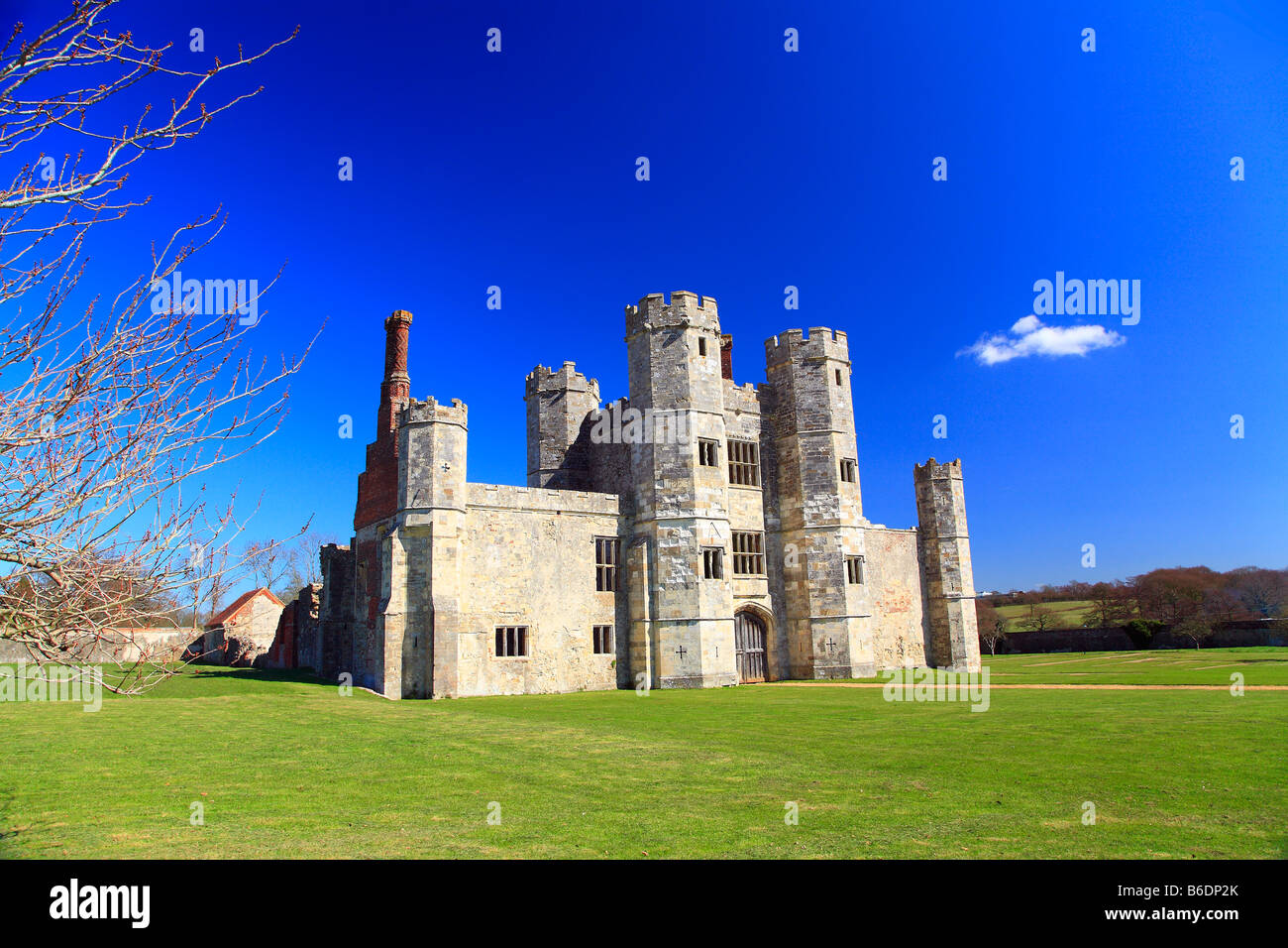 Titchfield Abbey 13th century in Spring. - Stock Image