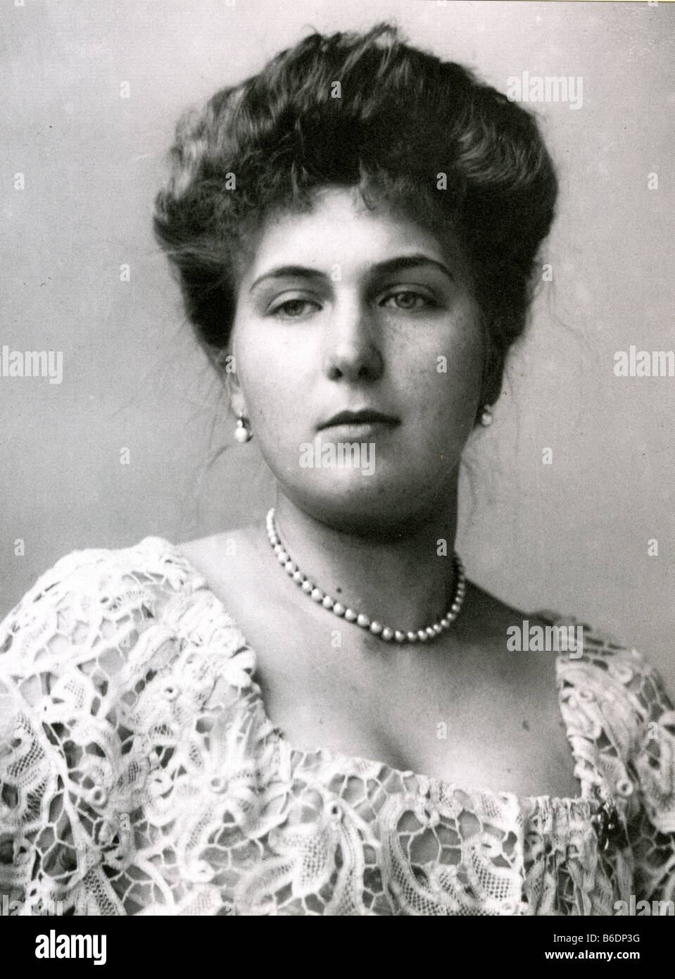VICTORIA EUGENIE OF BATTENBERG 1887 - 1969. Queen consort of King Alfonso XIII of Spain and grand-daughter of Queen - Stock Image