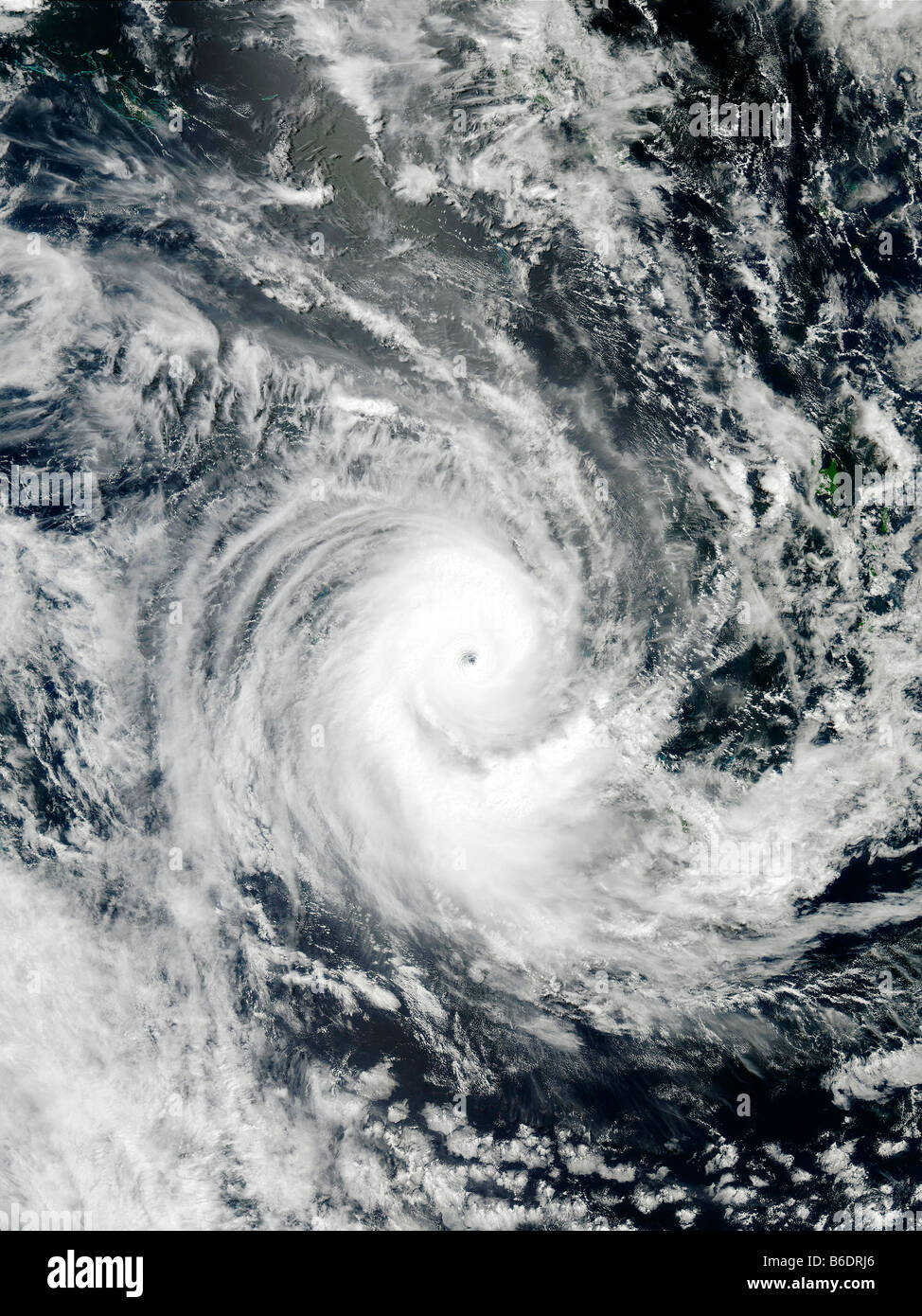 Tropical Cyclone Erica (22P), satellite image,on 13 March 2003. North is at top. Stock Photo