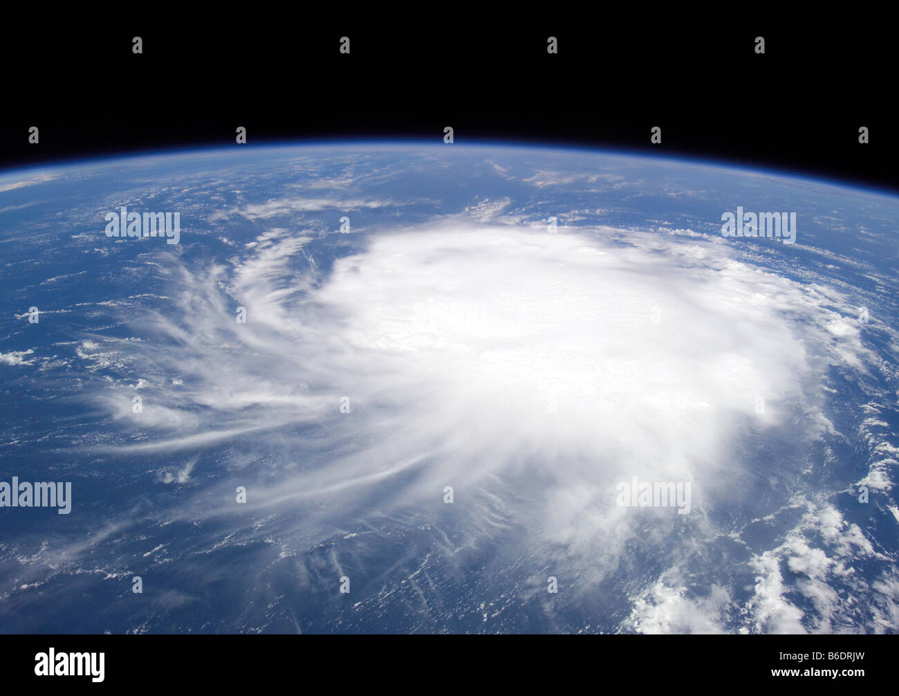 Tropical Storm Chris, in the Caribbean, seen from the International Space Station (ISS). - Stock Image