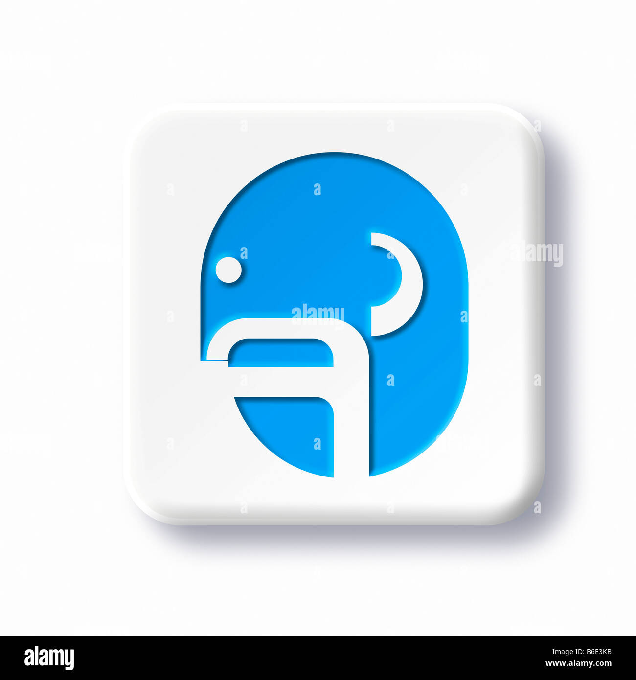 ENT (ear, nose and throat) medicine symbol against white background - Stock Image