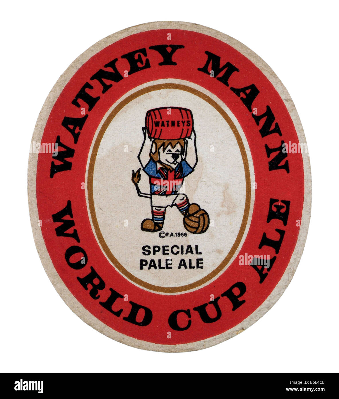Watney Mann World Cup Ale Beermat Coaster Rest Glasses