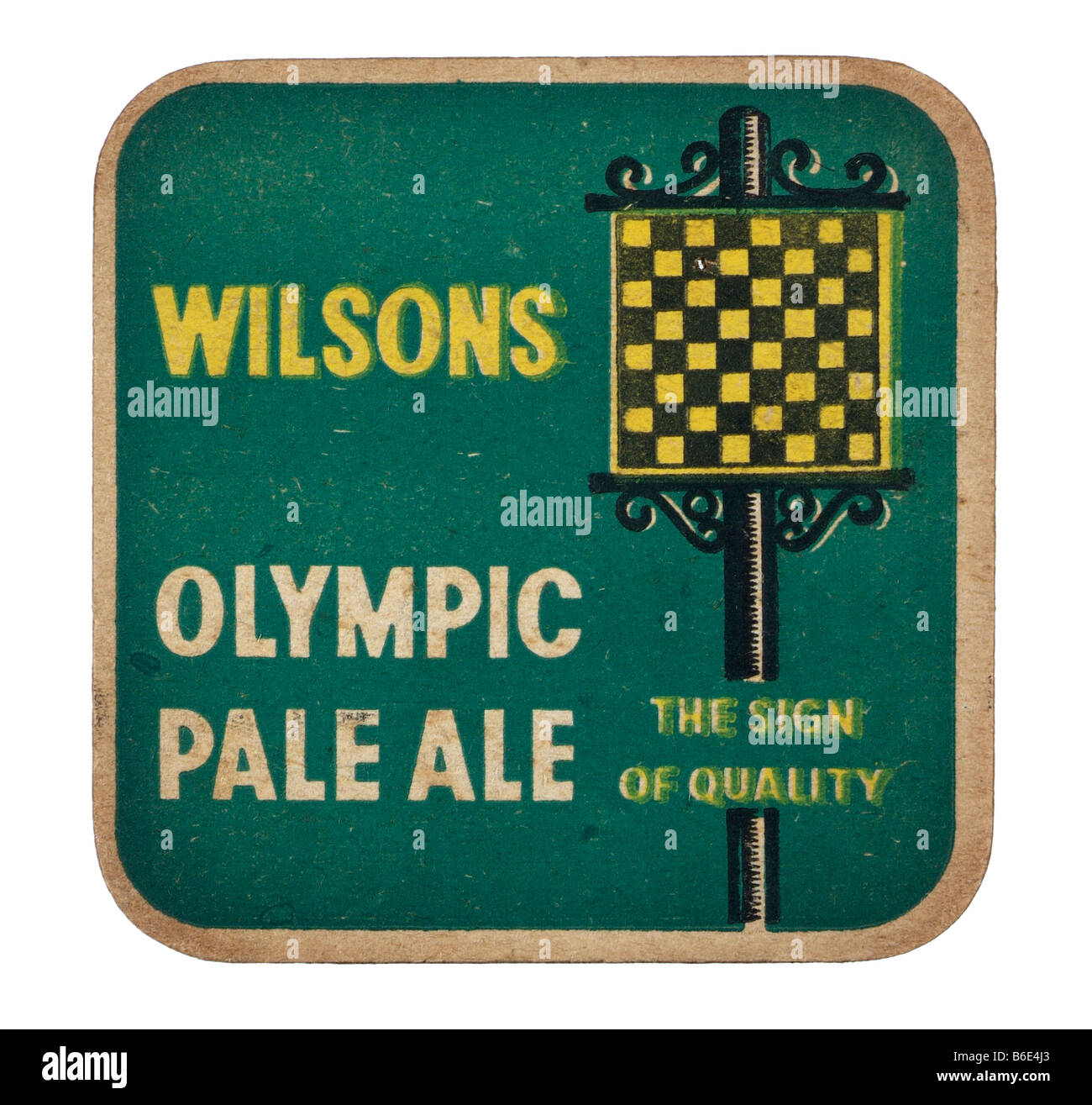 wilsons olympic pale ale the sign of quality - Stock Image