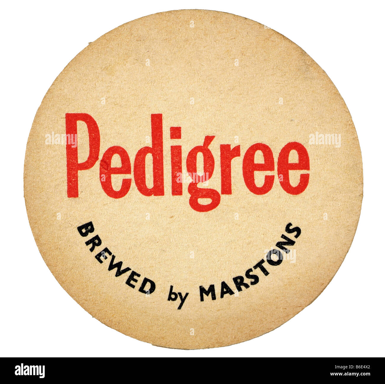 pedigree brewed by marstons - Stock Image