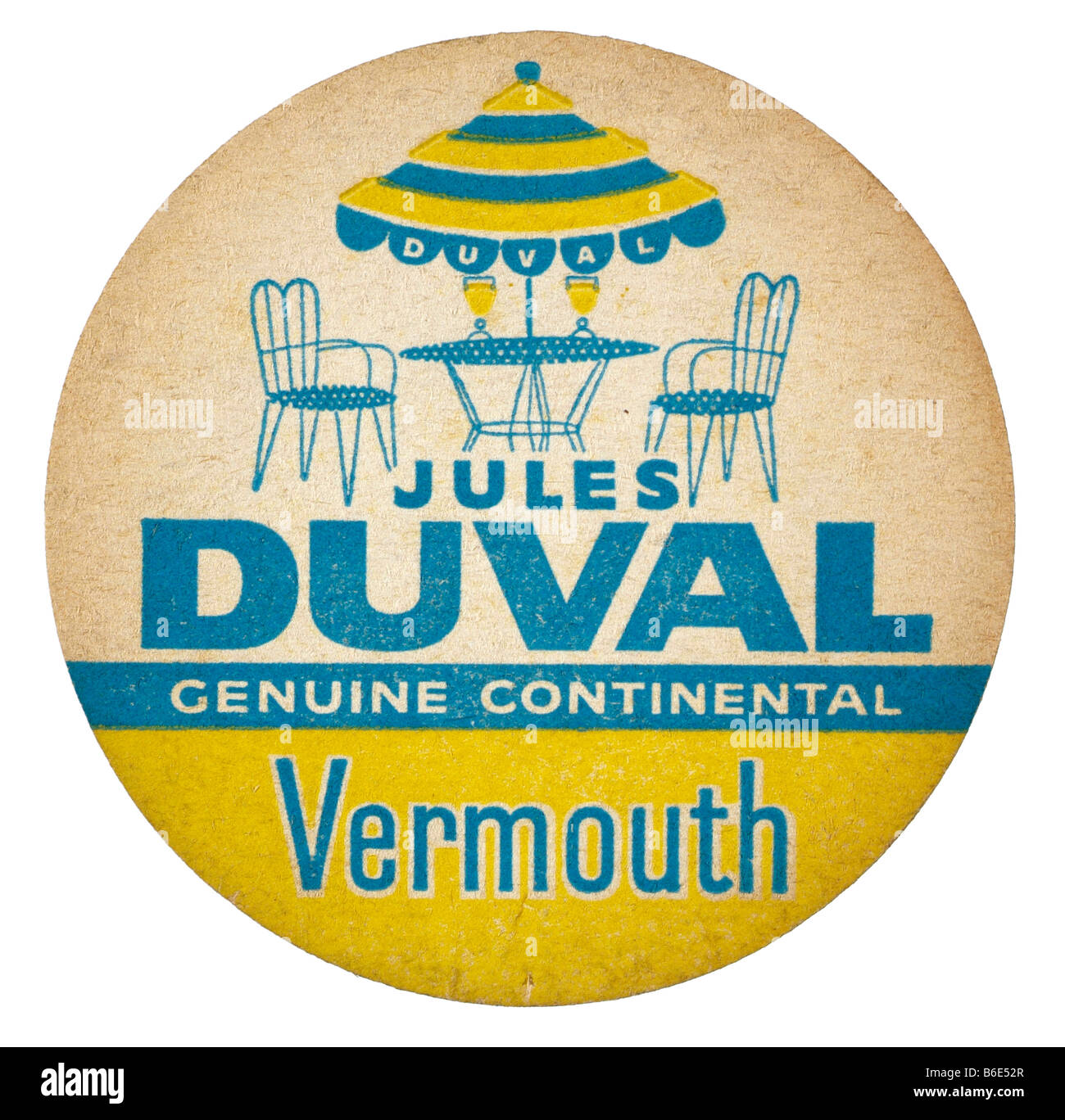 jules duval genuine continental vermouth - Stock Image
