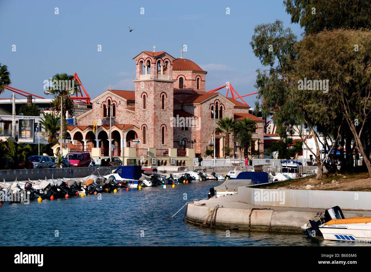 MIKROLIMANO  port harbour athens greece - Stock Image