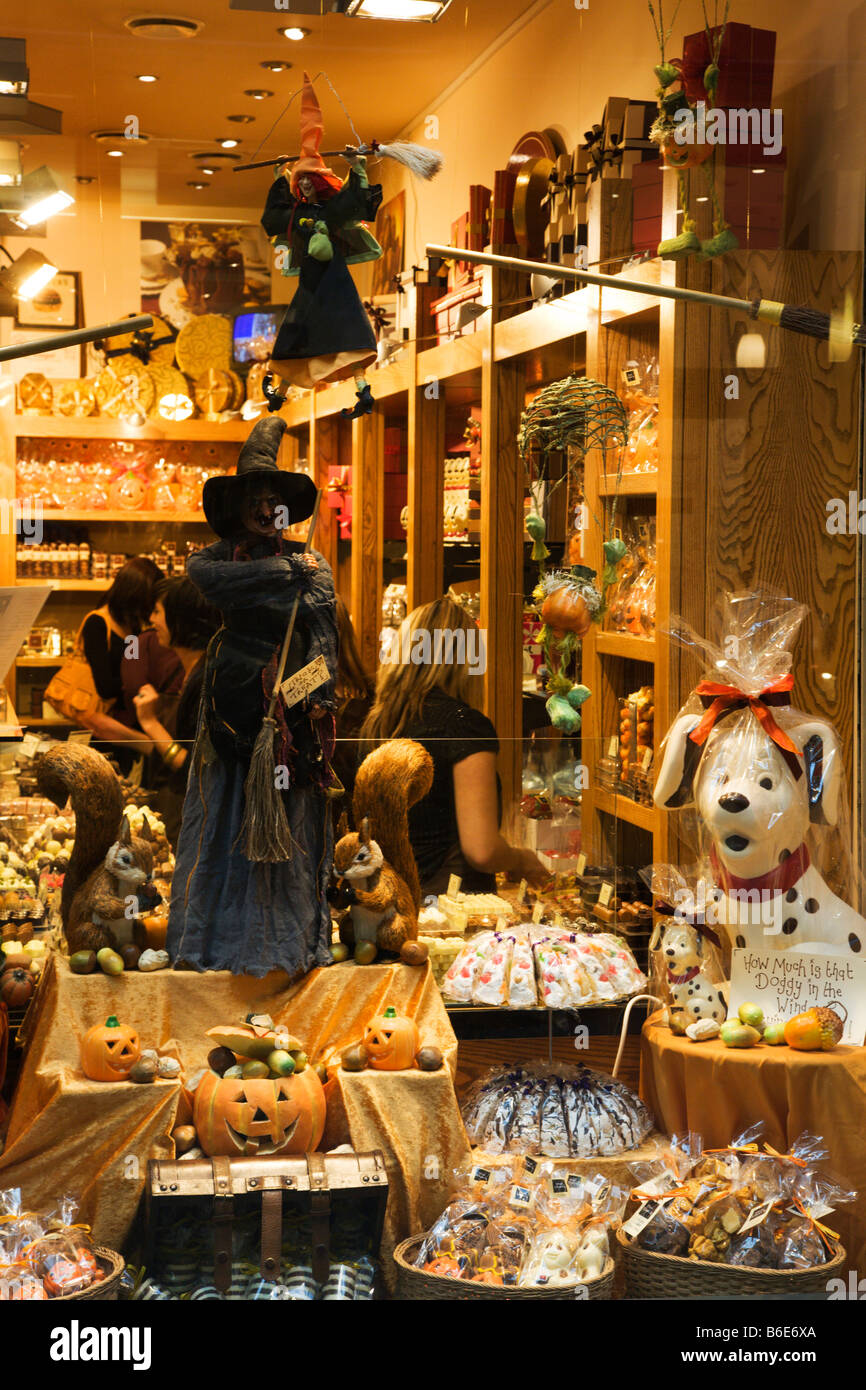 Sweet Shop Thorntons Arcade Leeds West Yorkshire England - Stock Image
