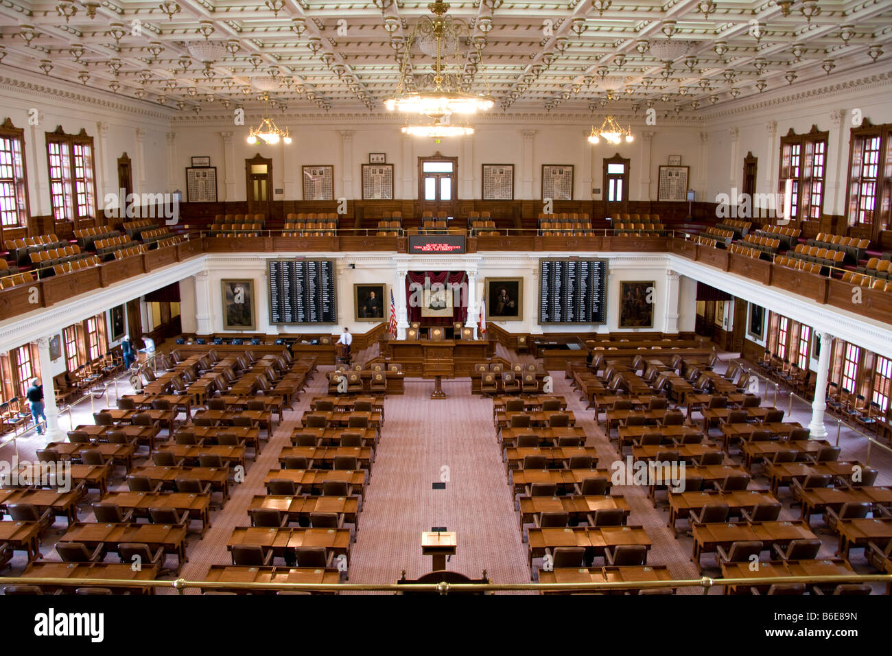 Texas House of Representatives in State Capitol in Austin - Stock Image