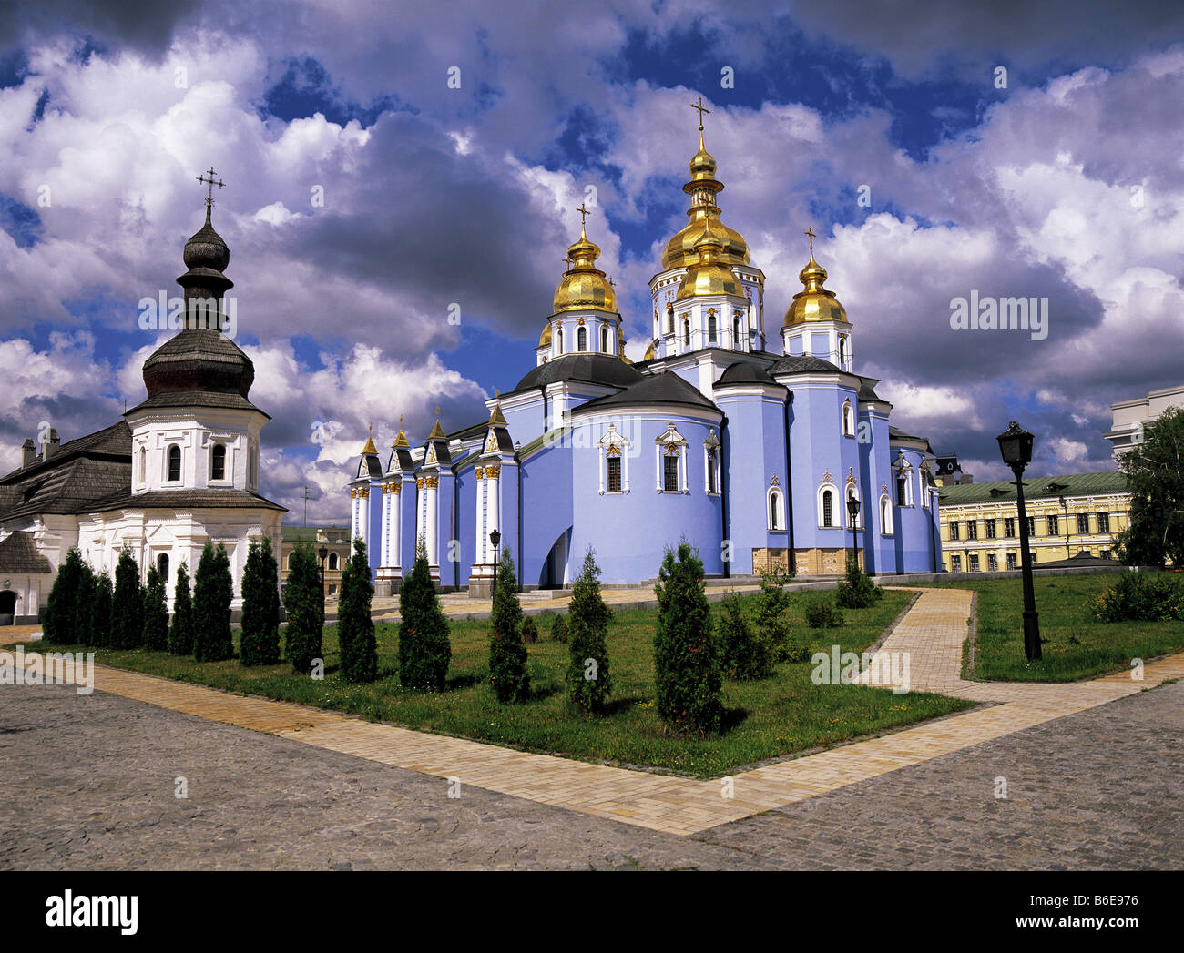 Saint Mikhayil's Monastery of the Golden Domes at Kiev in Ukraine - Stock Image