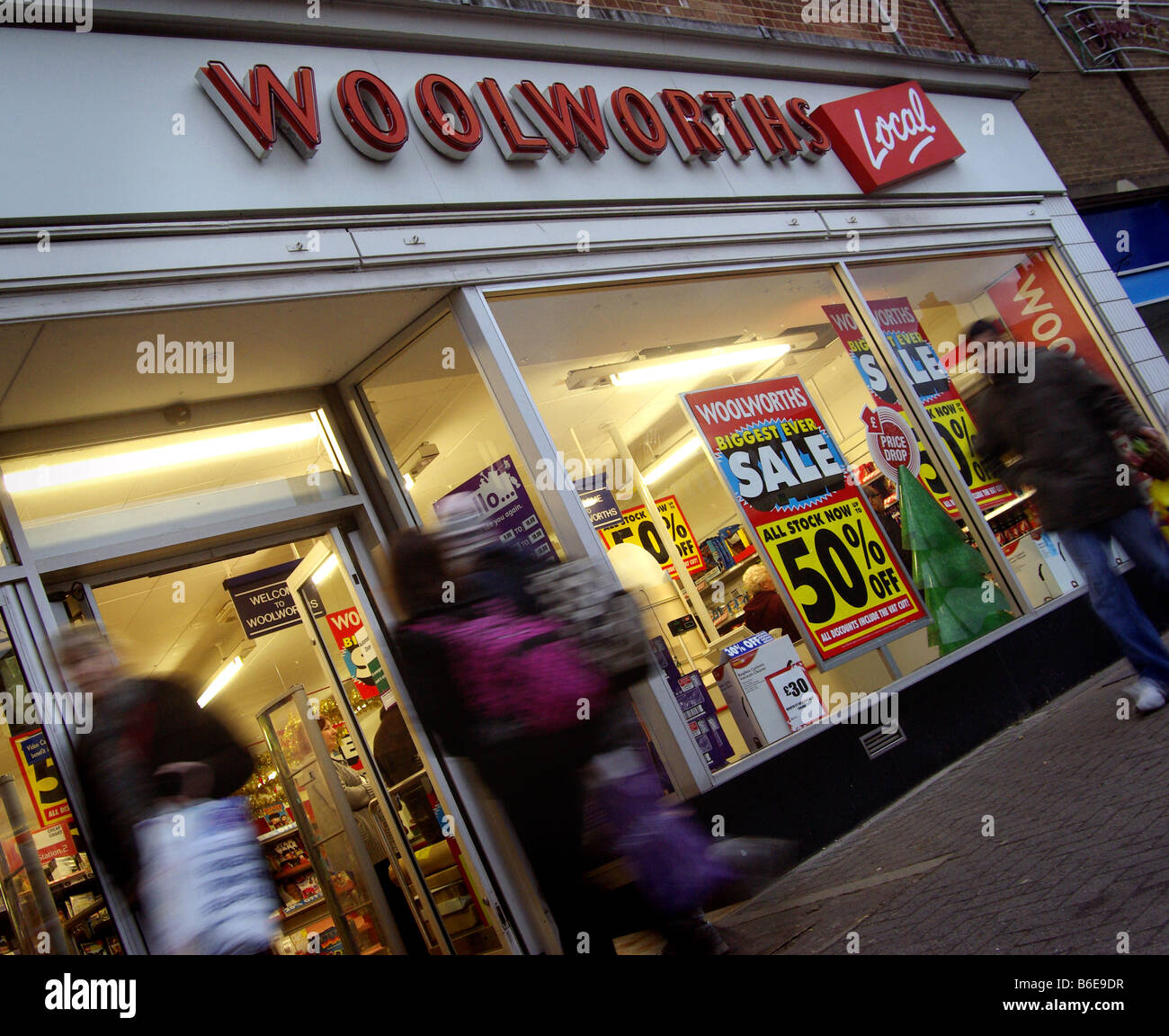 Woolworths, Woolies, High St, Retail, Closure,Dec 2008 Stock Photo