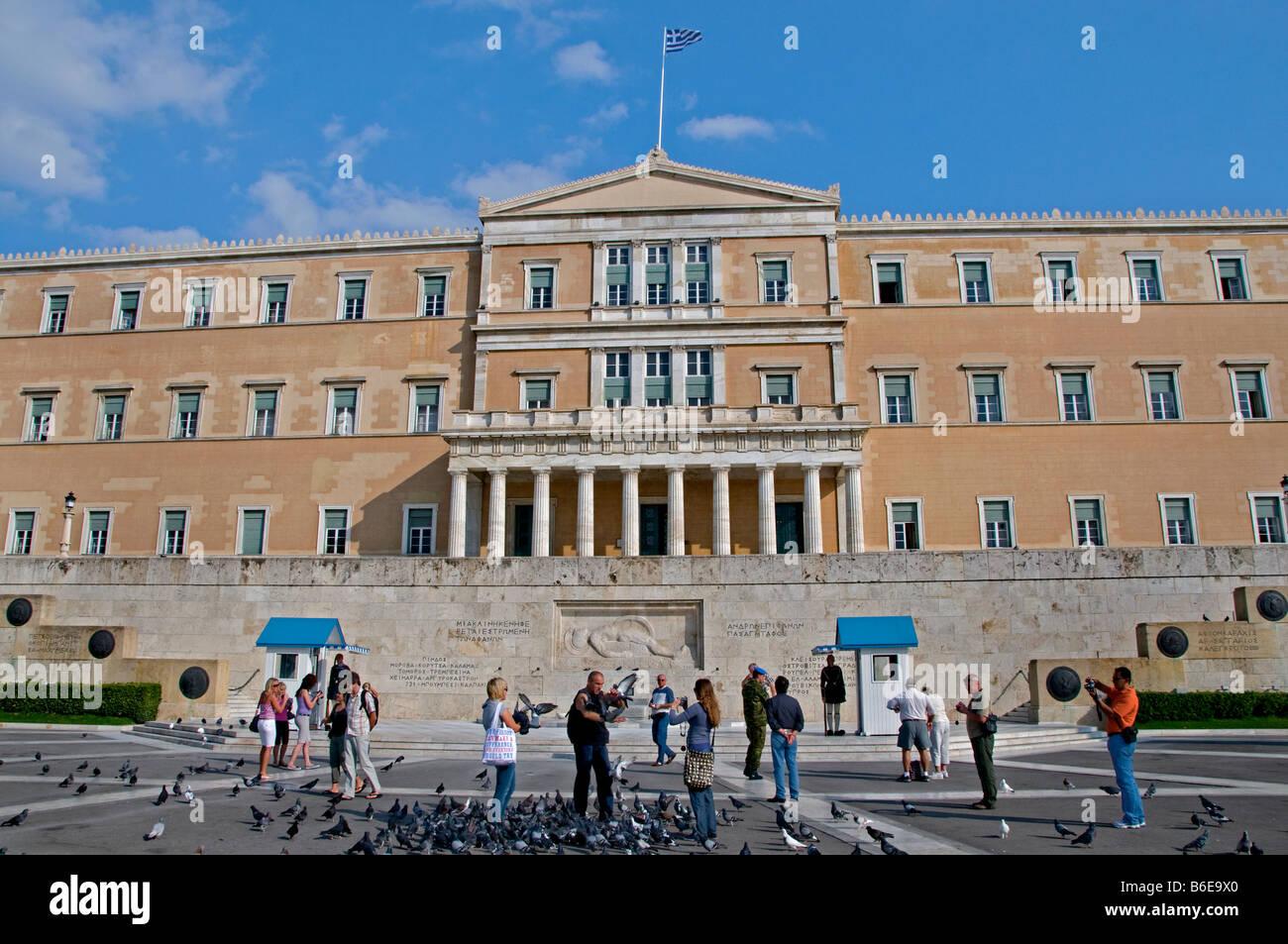 National Parliament Athens Greece Greek - Stock Image