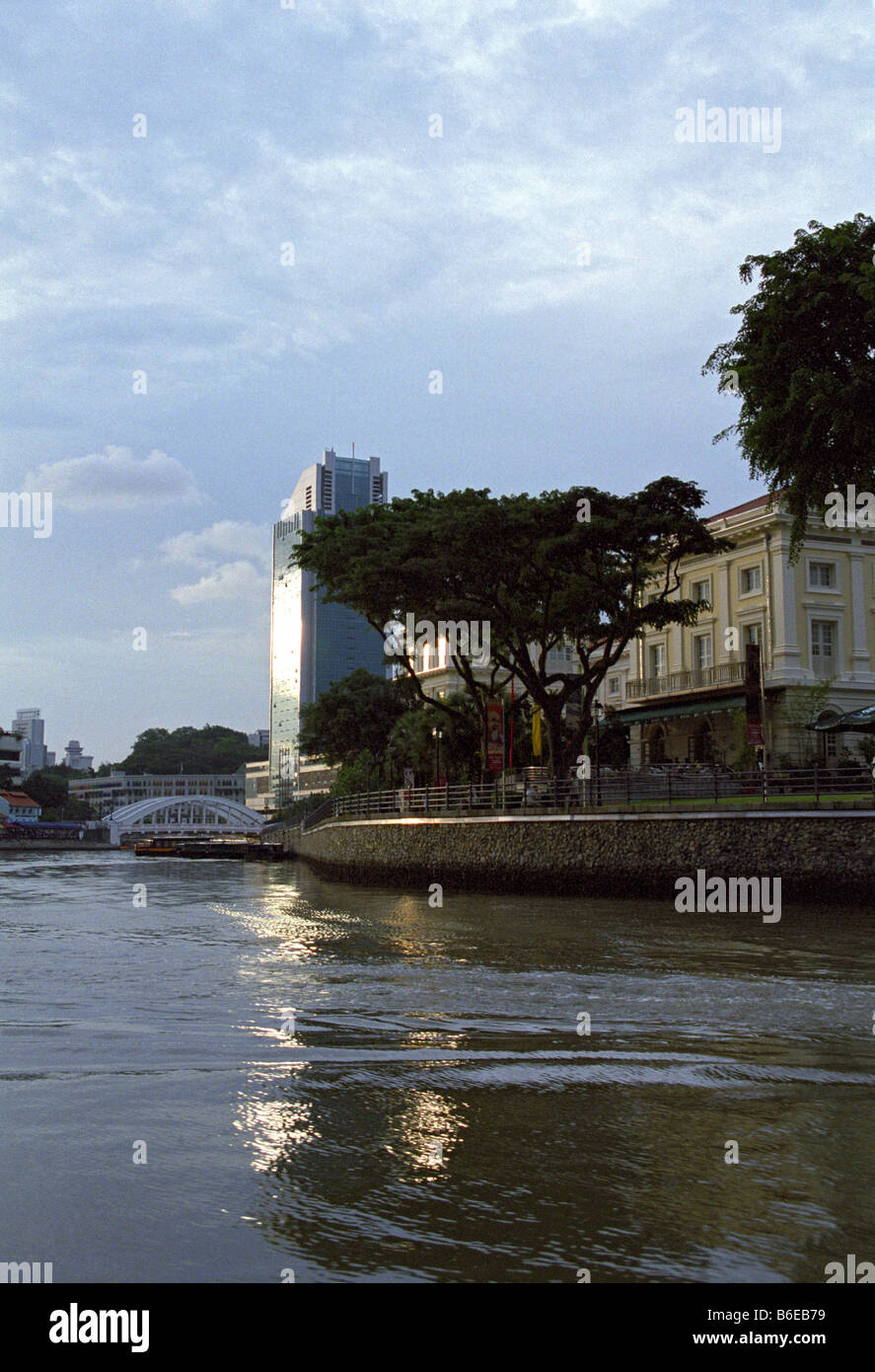 Asian Civilisations Museum, Singapore River, Singapore - Stock Image