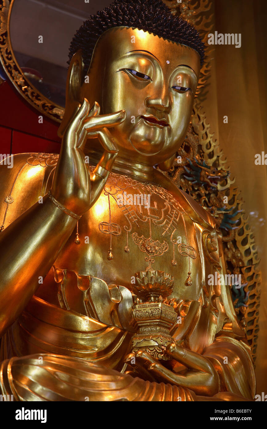 China Hong Kong Lantau Island Po Lin buddhist monastery - Stock Image