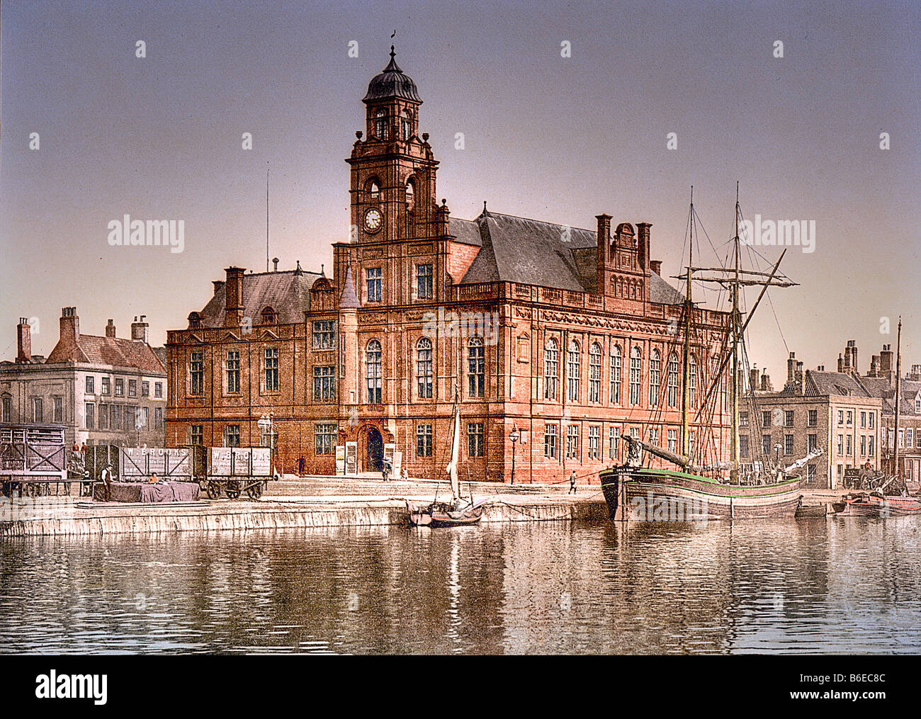 Town Hall Great Yarmouth Vintage English Photography Poster Norfolk 1890/'s