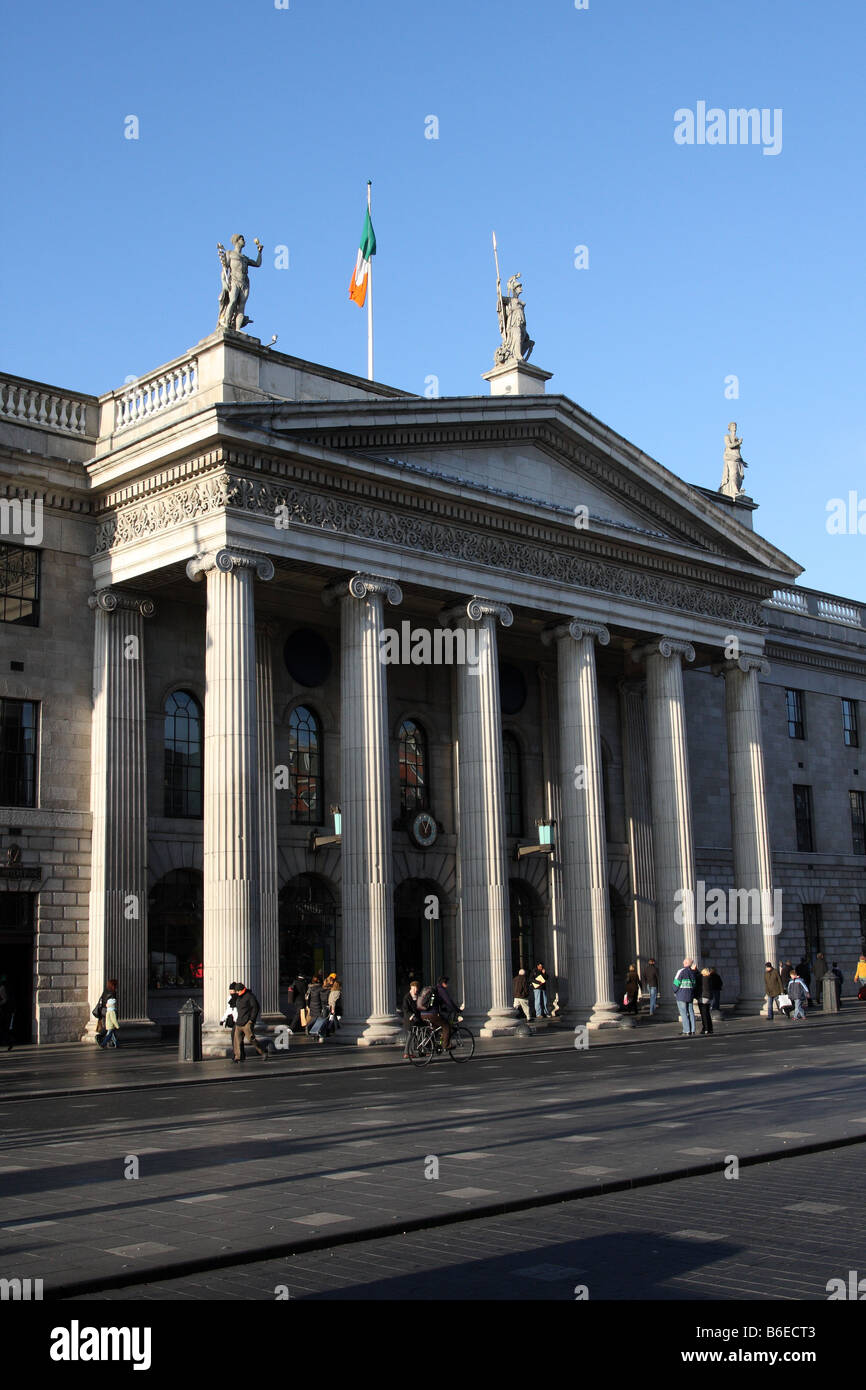 The General Post Office in the city of Dublin in the Republic of Ireland - Stock Image