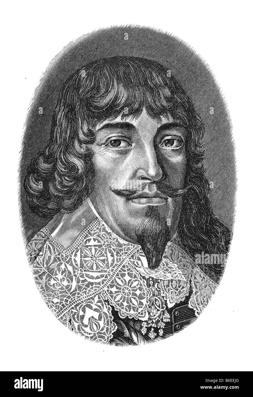 Bernard of Saxe-Weimar, Bernhard Herzog von Sachsen-Weimar, 16. August 1604 Weimar - 18. Juli 1639 Neuenburg am - Stock Image