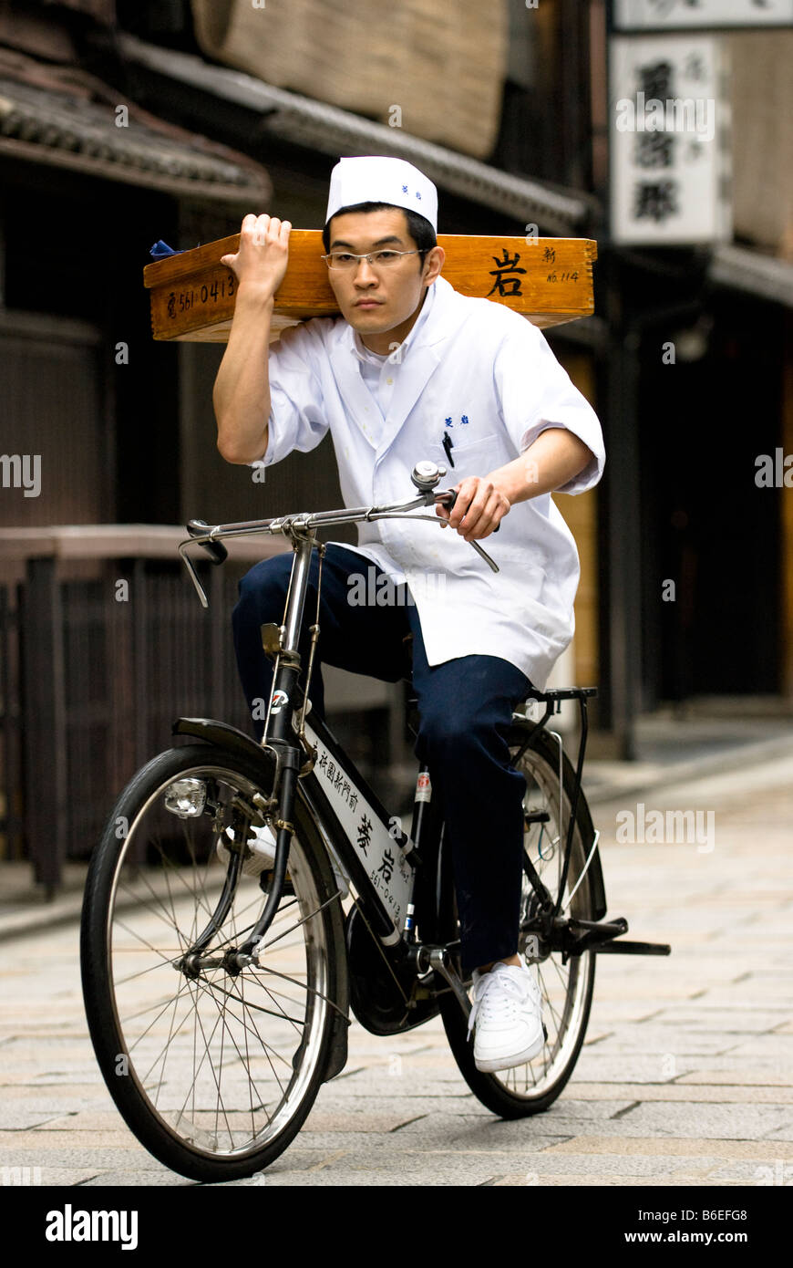 Traditional Soba Delivery - Stock Image