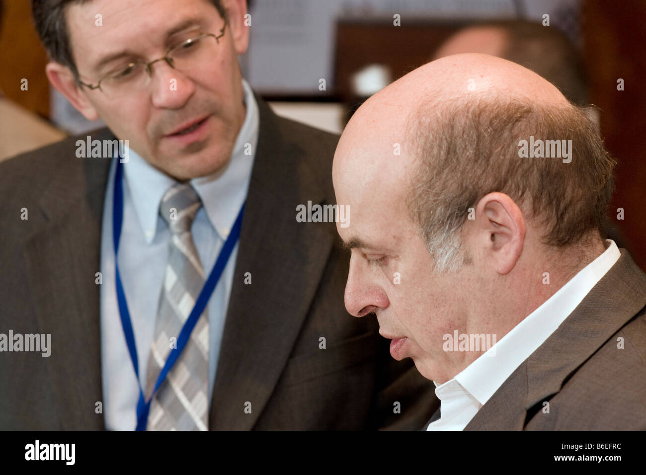 Nathan Sharansky,Chairman of the Adelson Institute for Strategic Studies, engages in a conversation during Dec. Stock Photo