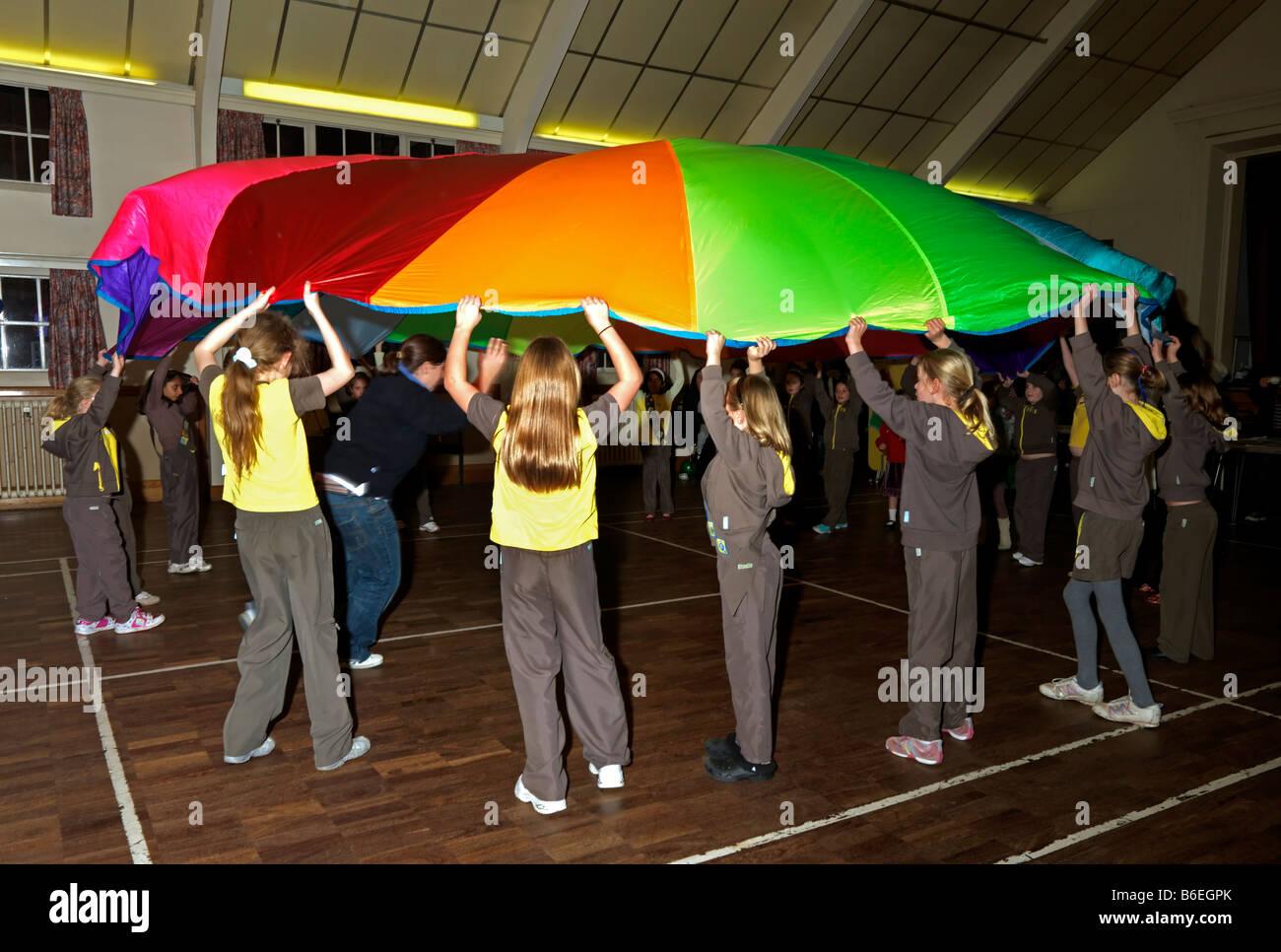 80th Brownie Celebration Parachute Game - Stock Image