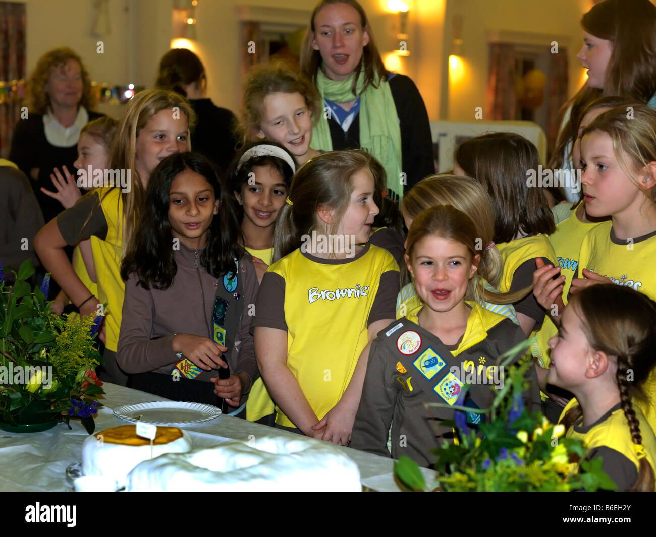 80th Brownie Celebration - Stock Image