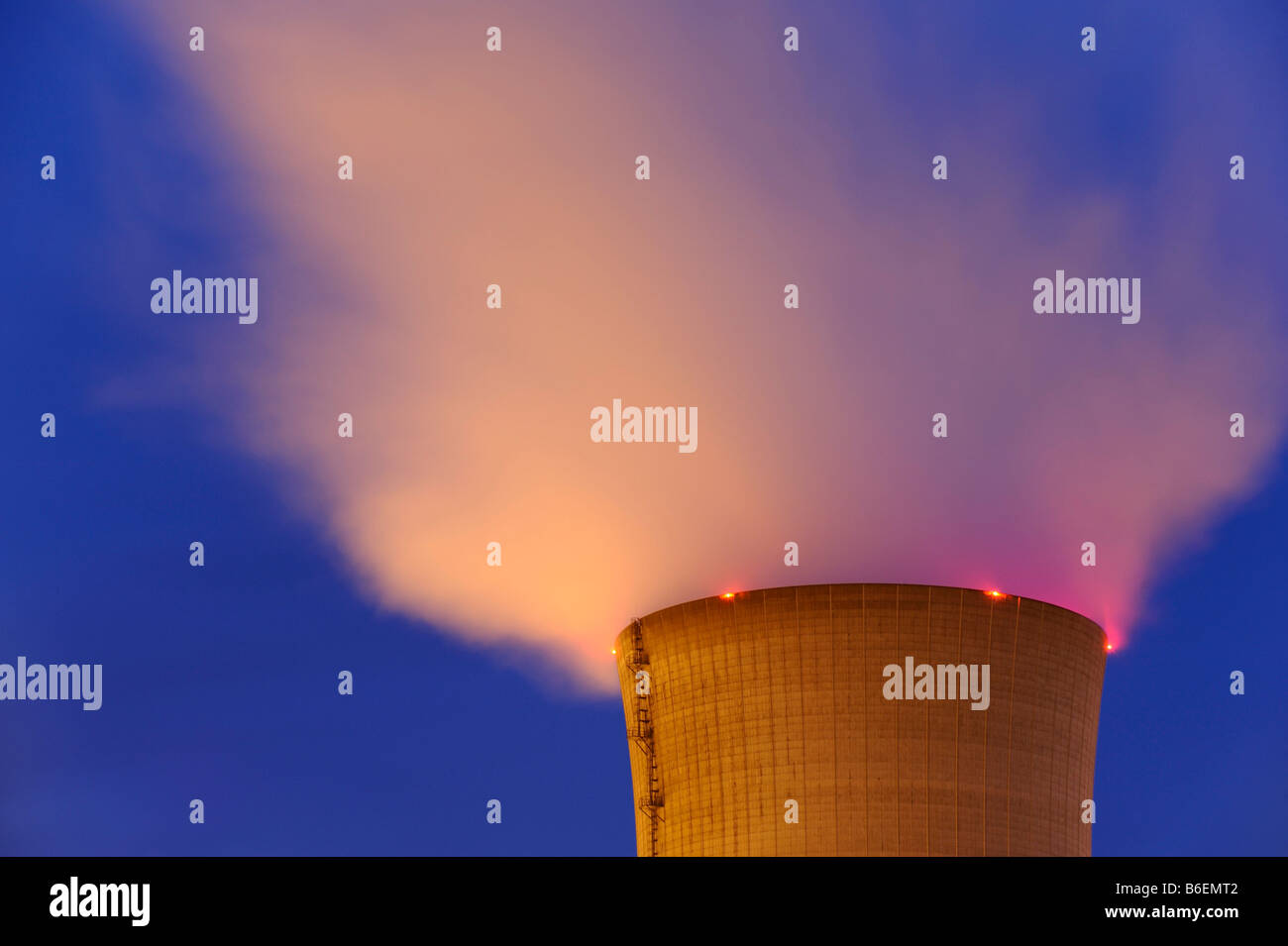Atomic power station, Grafenrheinfeld, Lower Franconia, Bavaria, Germany, Europe - Stock Image