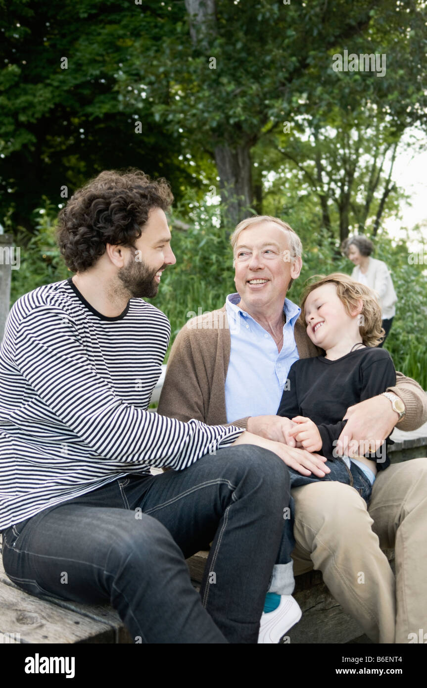 Men with child - Stock Image