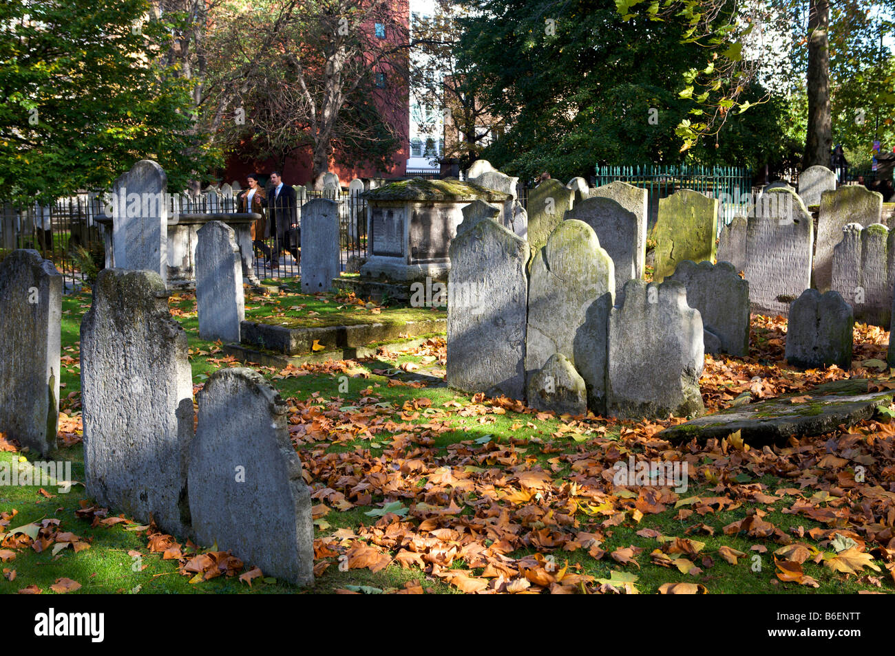 Bunhill Row Burial grounds City of London - Stock Image