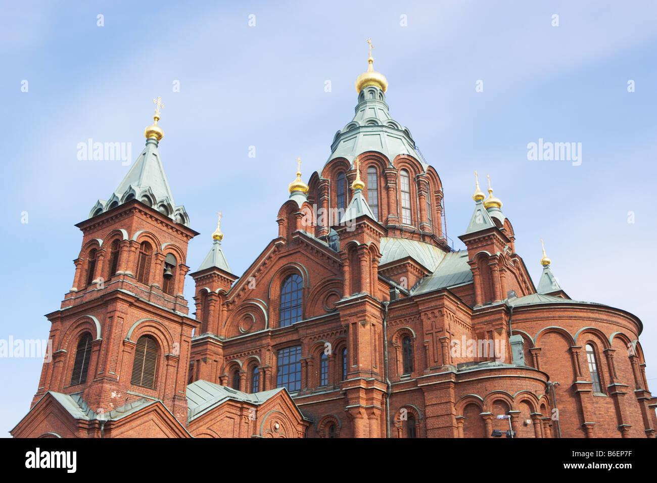 Uspenski Cathedral in Helsinki Finland - Stock Image