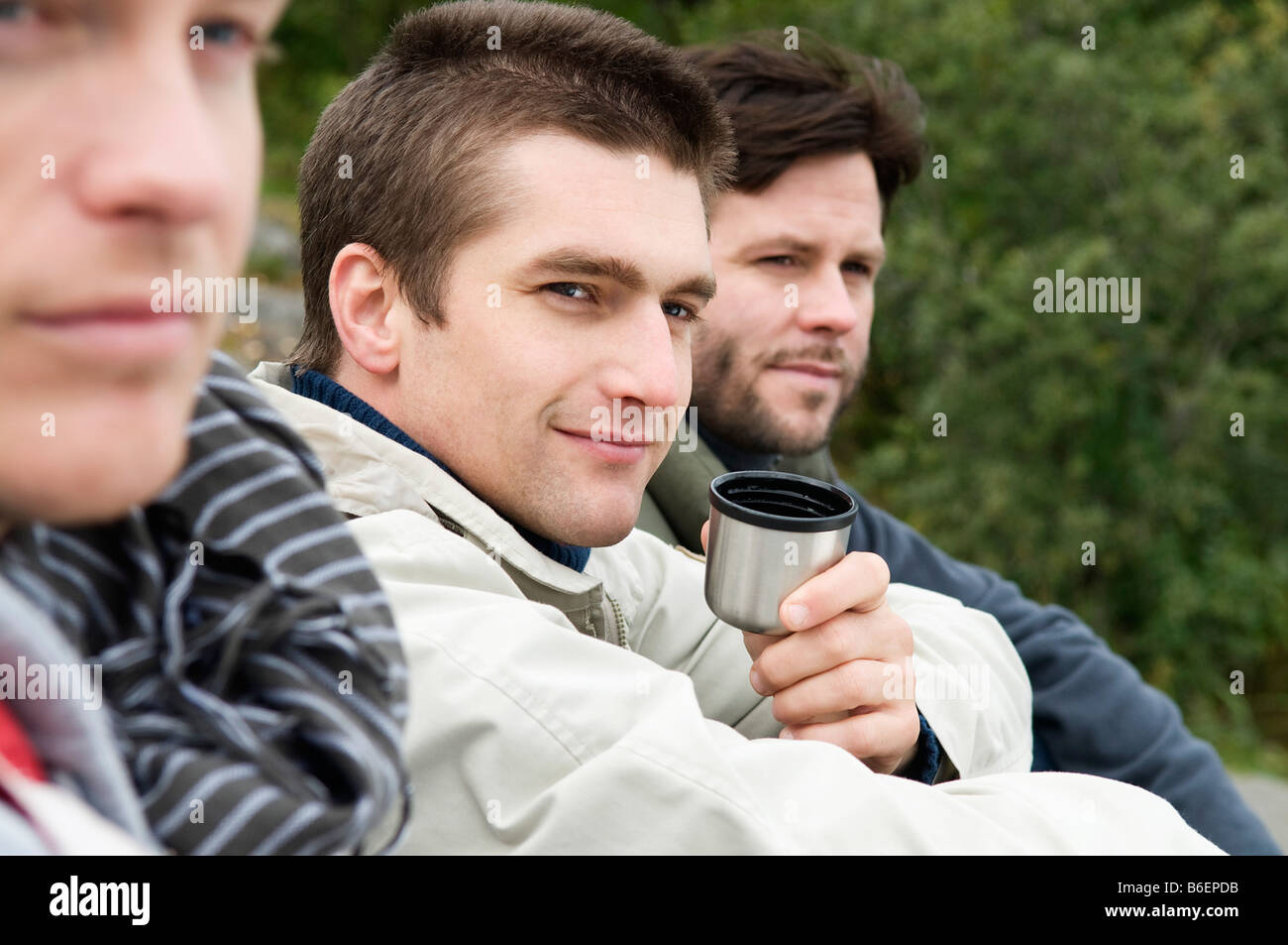 Guys out in the nature - Stock Image