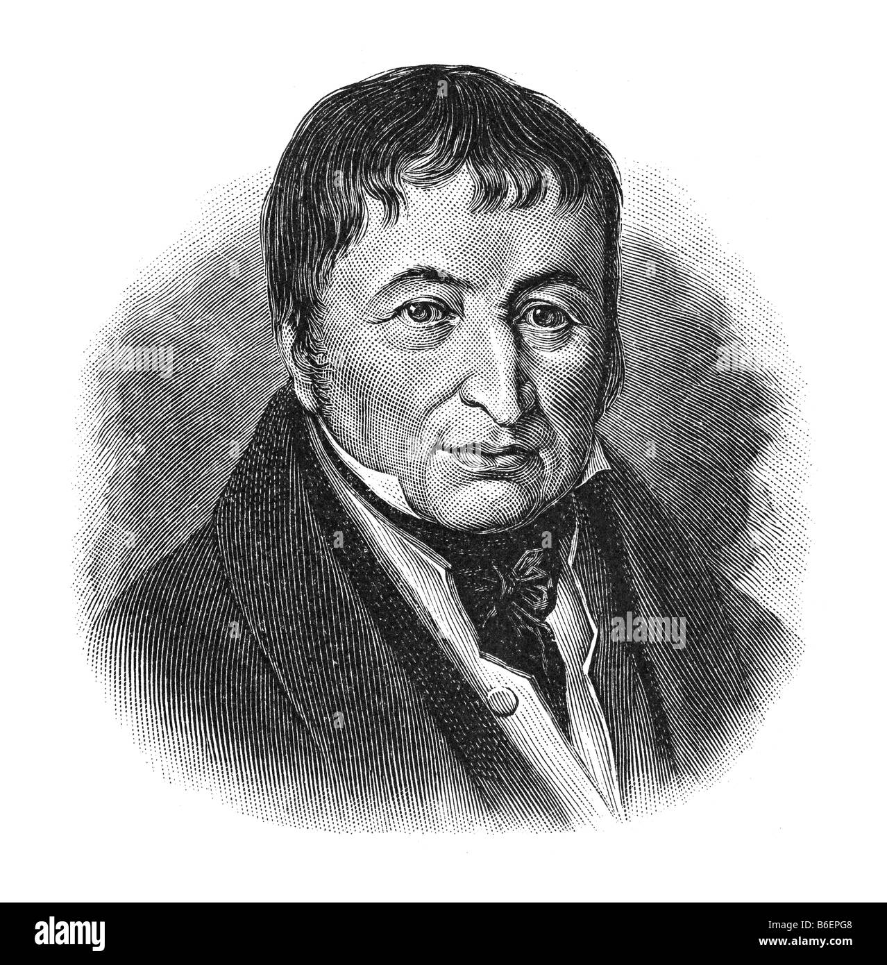 Johann Friedrich Gottlob Koenig, 17. April 1774 Eisleben - 17. January 1833 Oberzell near Wuerzburg - Stock Image