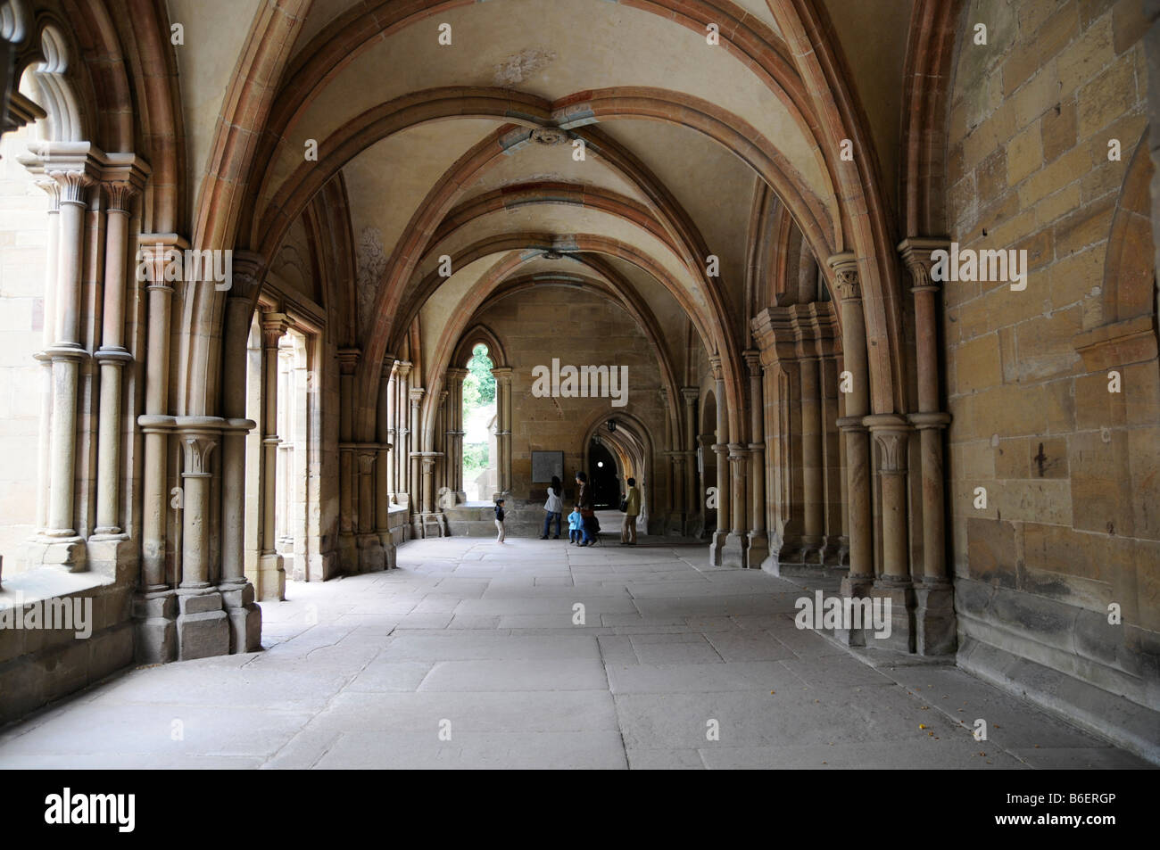 Cloister in the Kloster Maulbronn Convent, a World Heritage Site since 1993, Baden-Wuerttemberg, Germany, Europe Stock Photo
