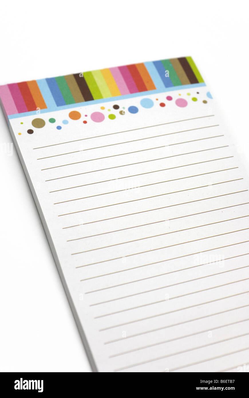 Notepad - Stock Image