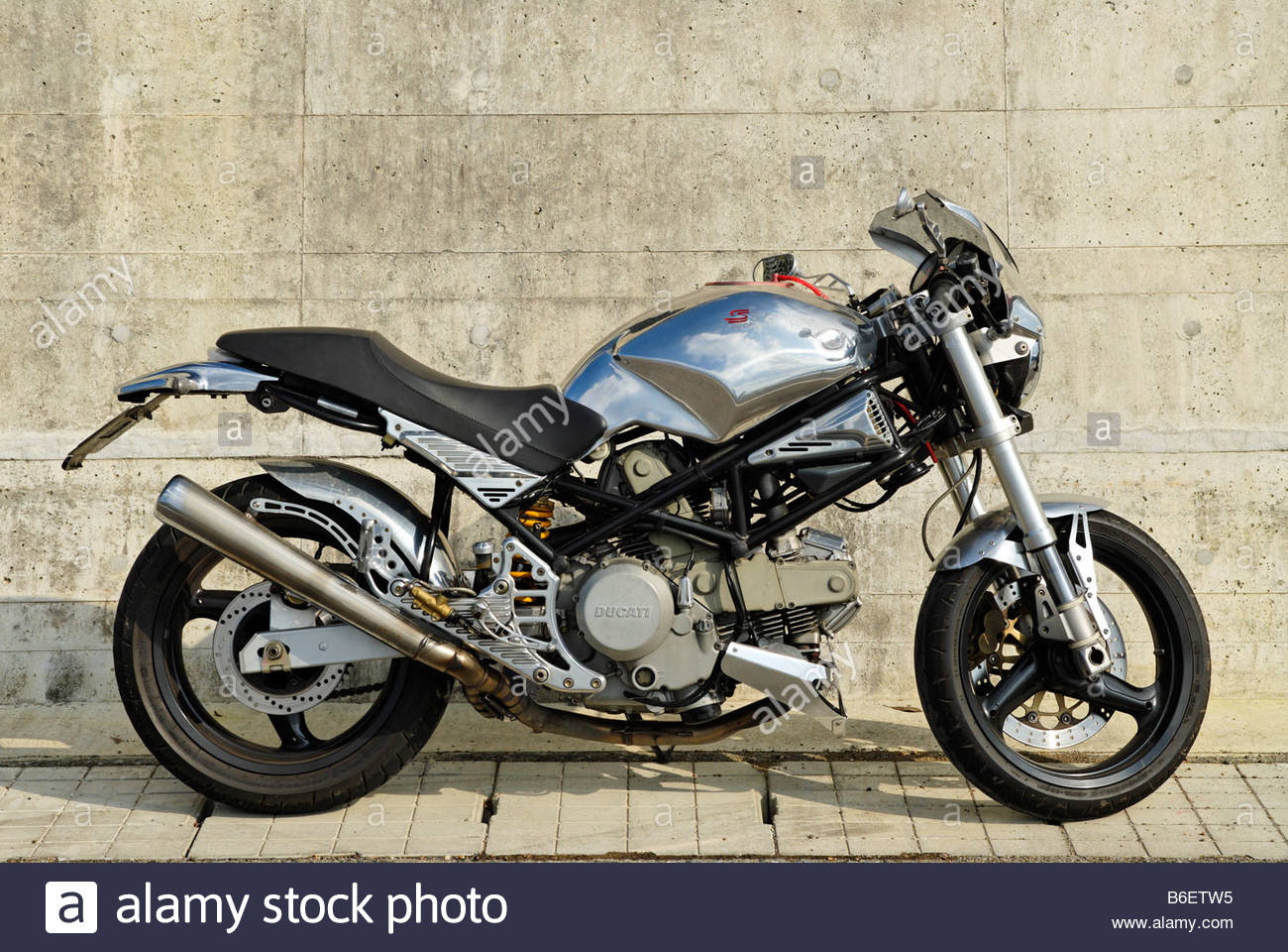 Ducati Monster 400 Spare Parts Wiring Diagram Motorcycle Customized With Aluminium Stock Image Photos Images Alamy