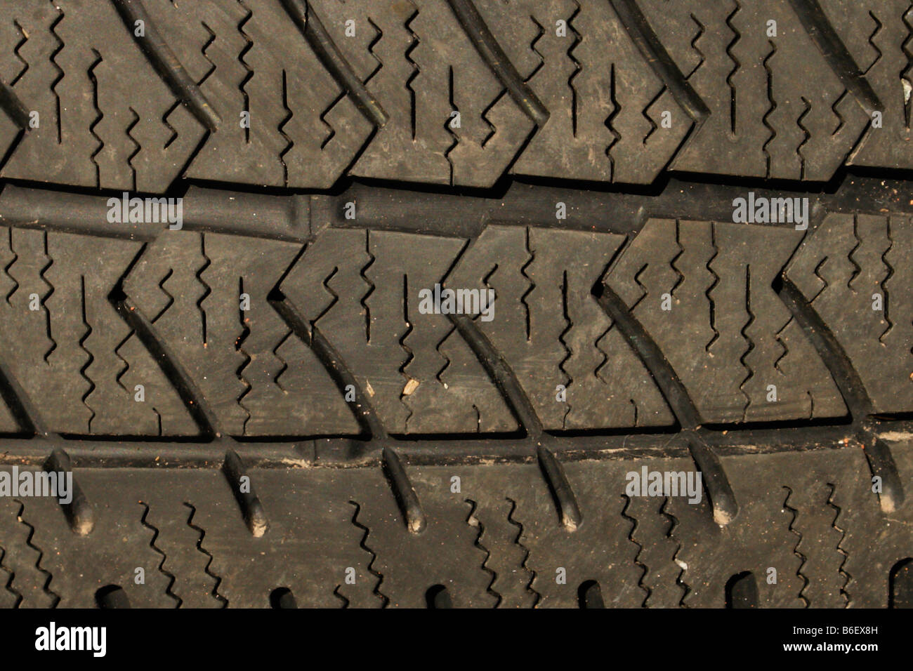 tire tyre profile close up - Stock Image