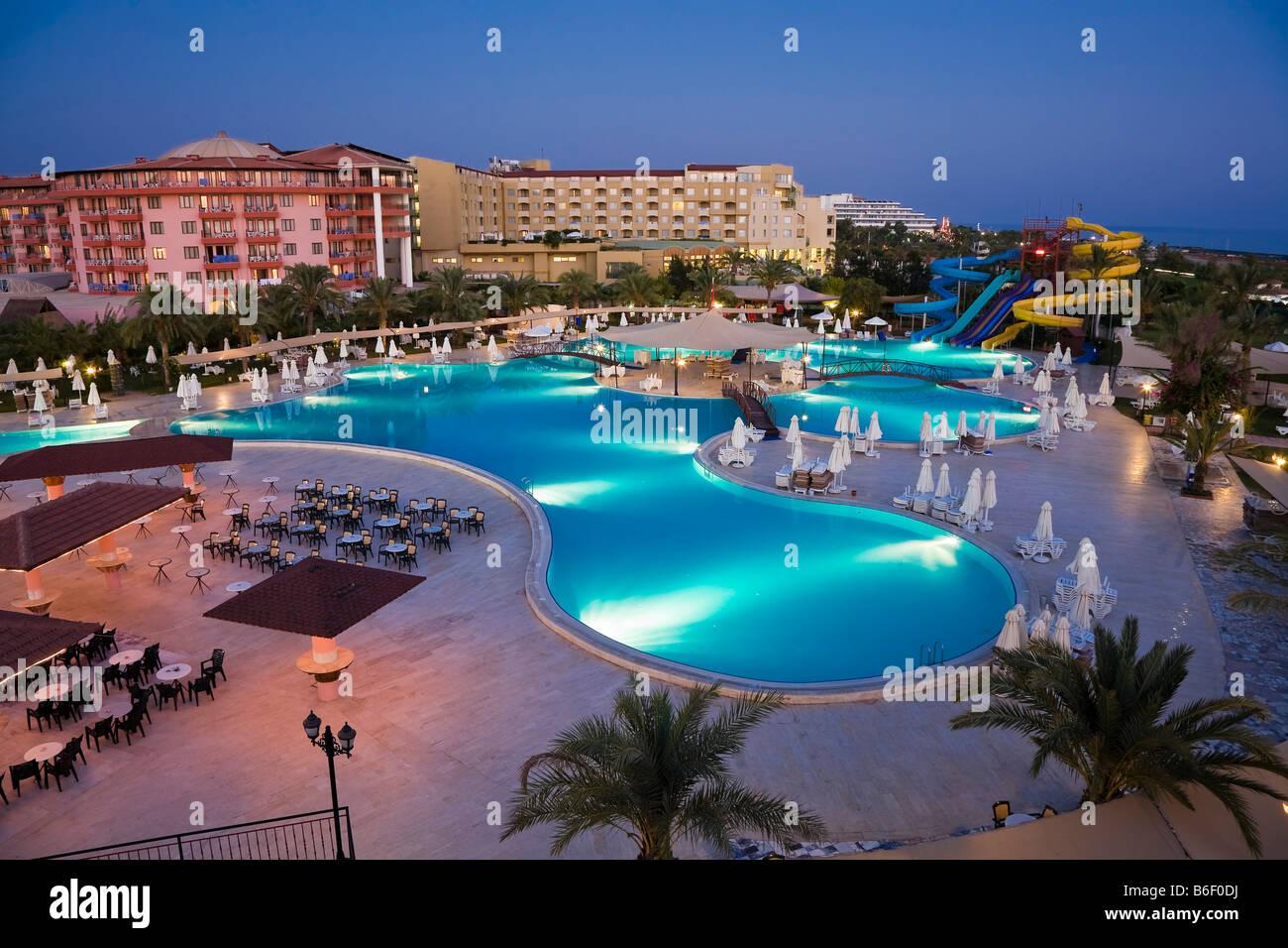 Swimming pool landscape at Selge Beach Resort, Turkish ...