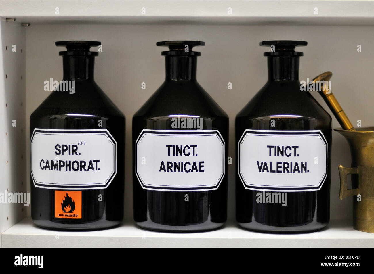 Chemicals in a chemists shop - Stock Image