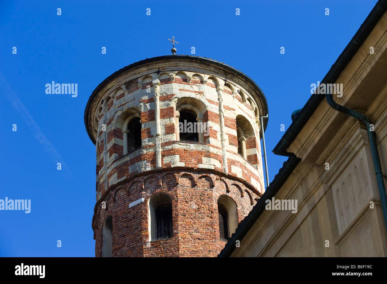Torre Rossa, Asti, Piemont, Italy, Europe - Stock Image