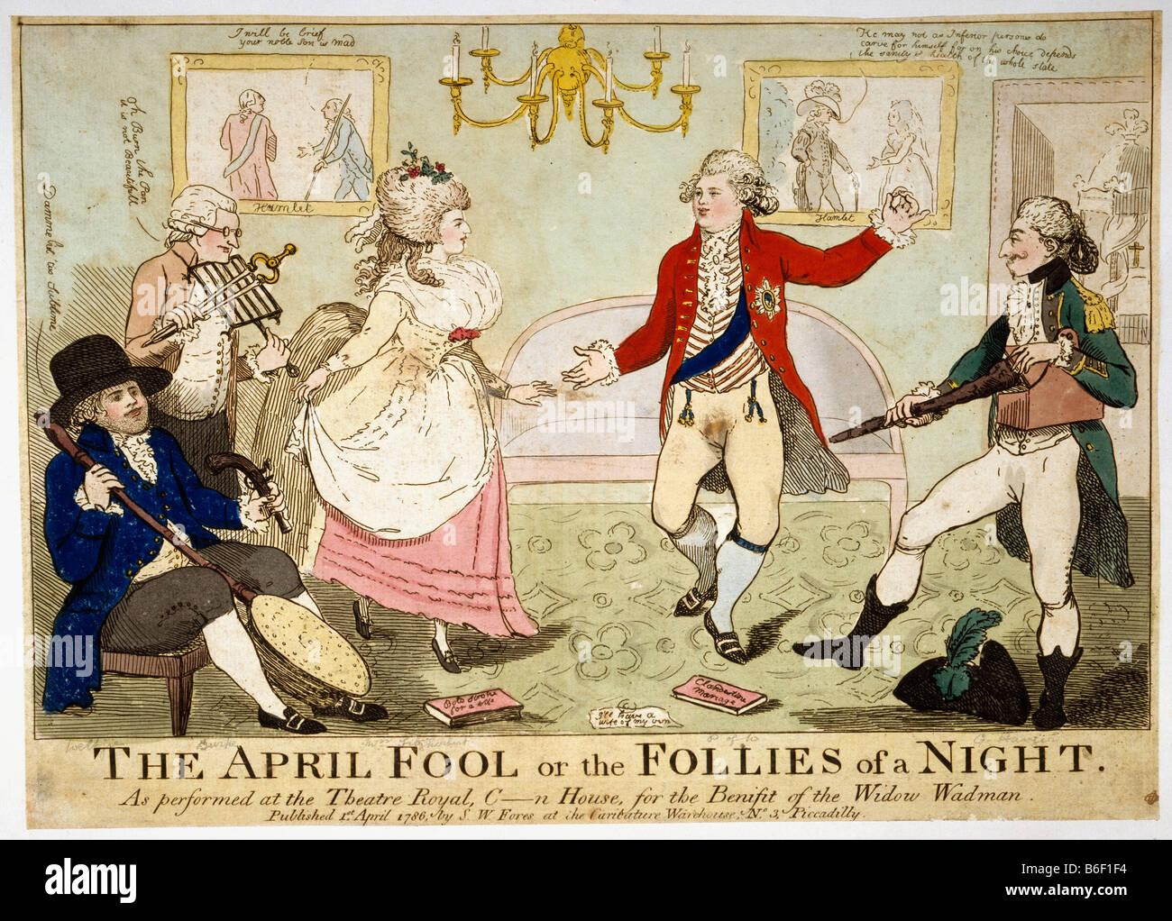 April Fool Cartoon - Stock Image
