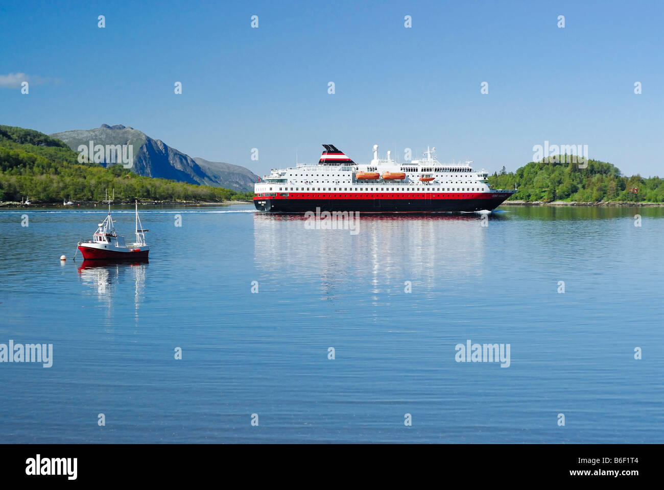 'Kong Harald' ship, Hurtigruta, Norway, Scandinavia, Europe - Stock Image