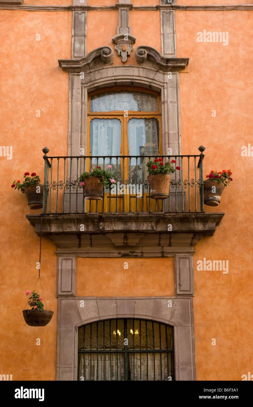 Colonial Building La Casa De La Marquesa Queretaro Mexico Stock
