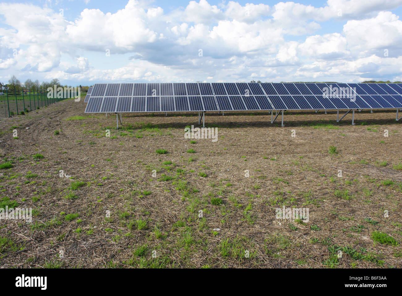 solar collector energy plant outside - Stock Image