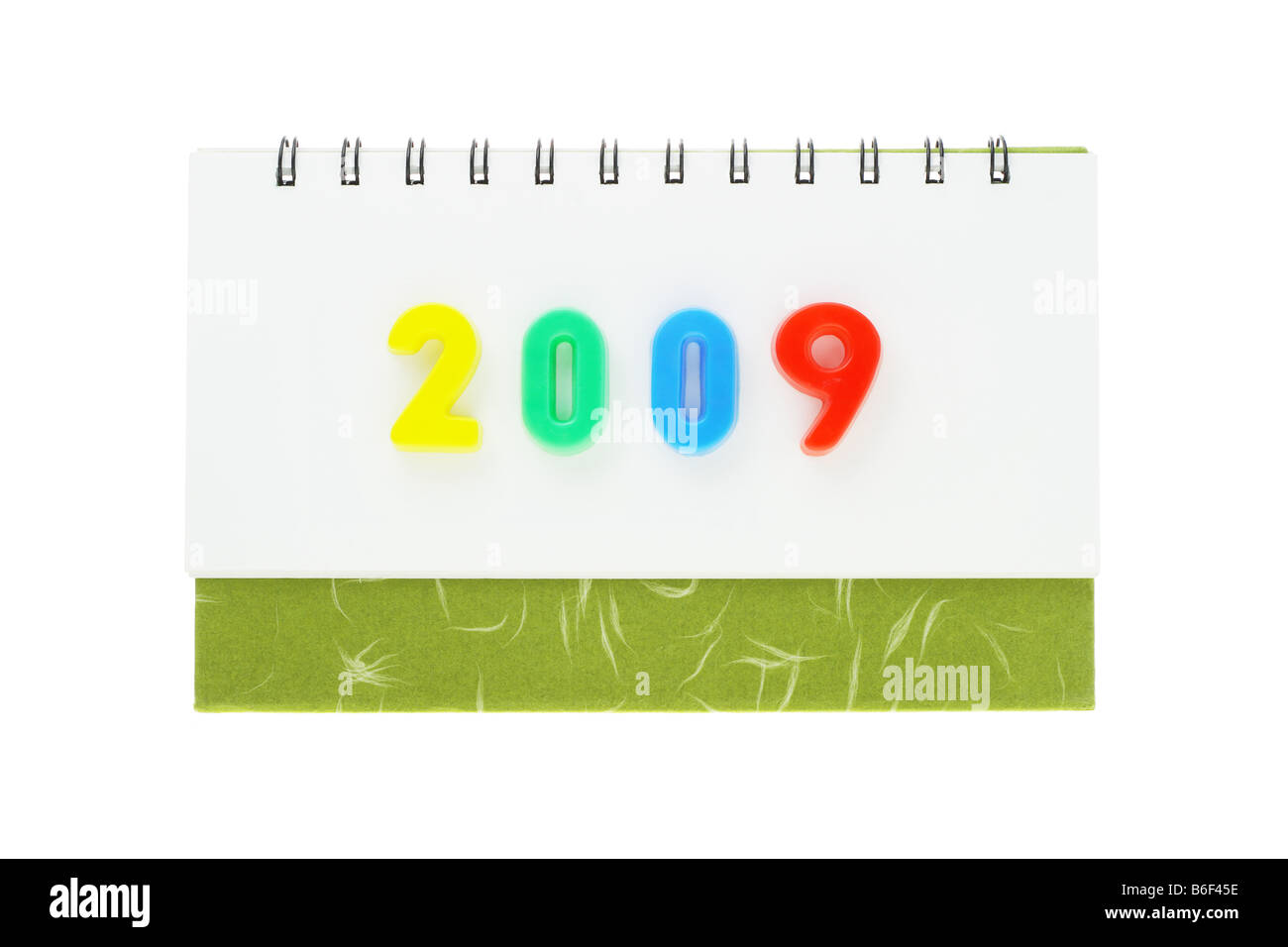 Desktop calendar showing the year 2009 - Stock Image