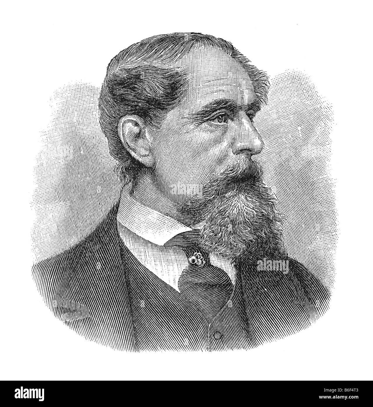 Charles John Huffam Dickens, pen-name Boz, February 1812 Landport Portsmouth, England - 9. Juni 1870 Gad's Hill - Stock Image