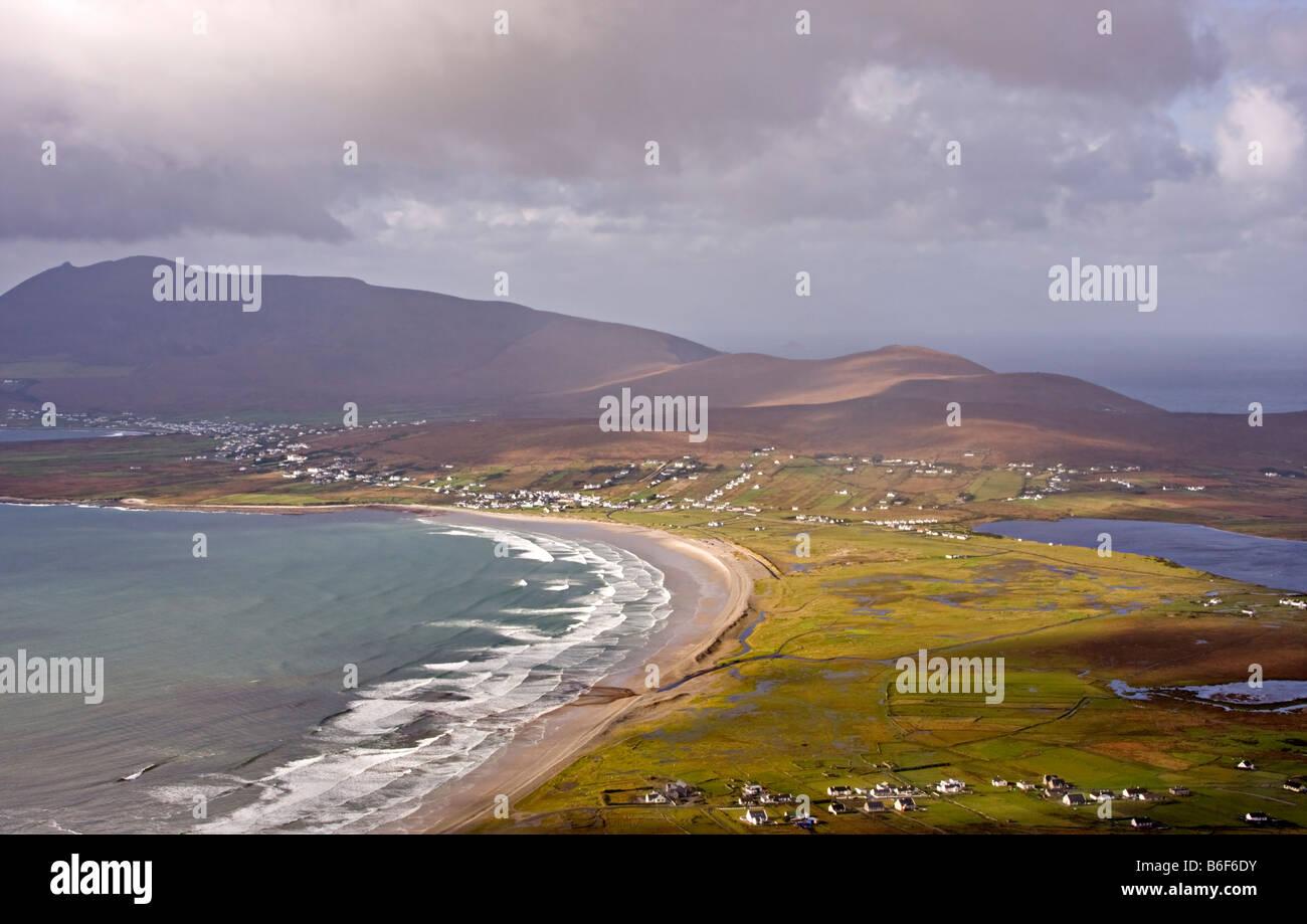 Keem Bay and Keel Beach on Achill Island, Republic of Ireland - Stock Image