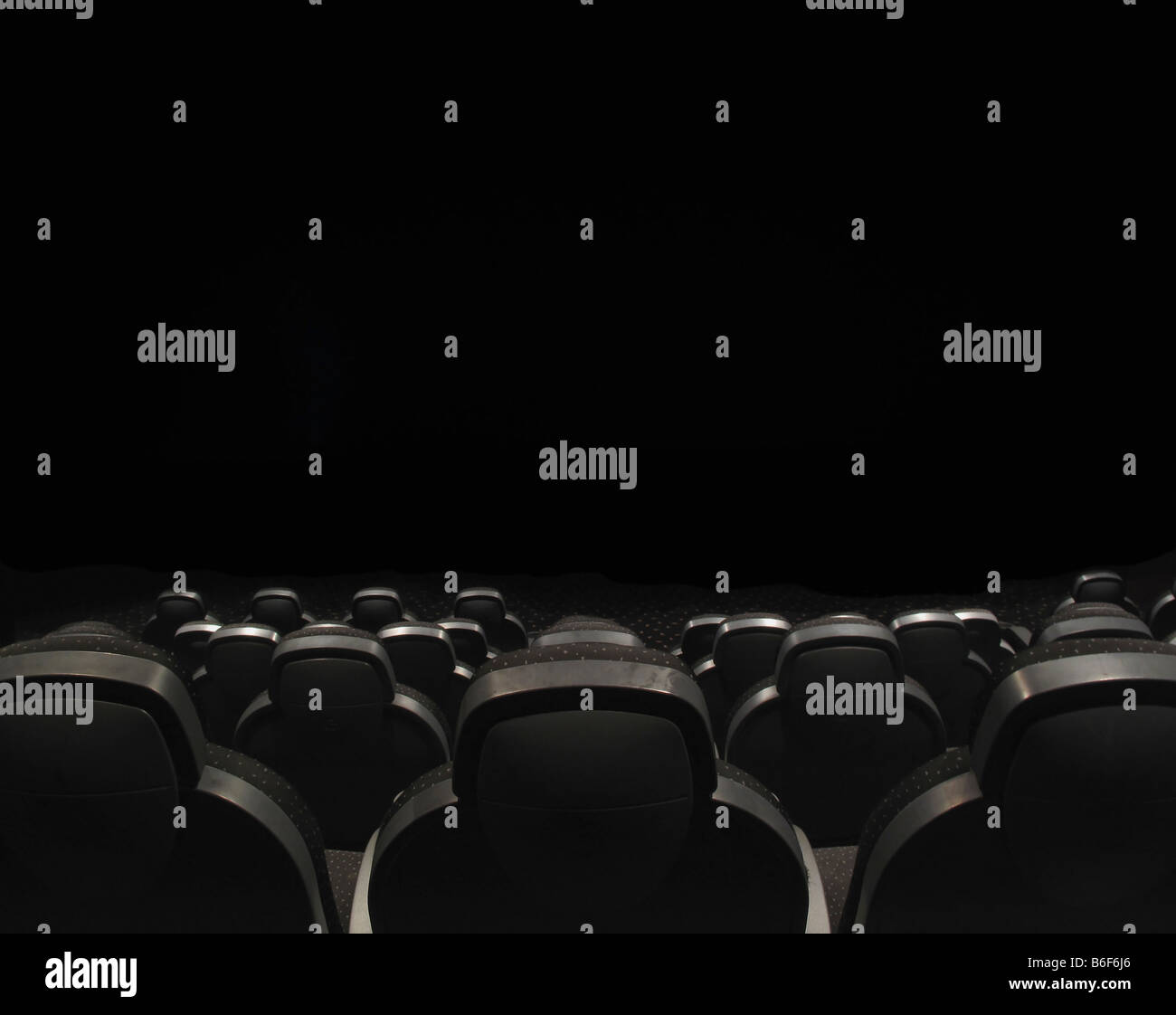 Seats in a cinema theatre or congress hall - Stock Image